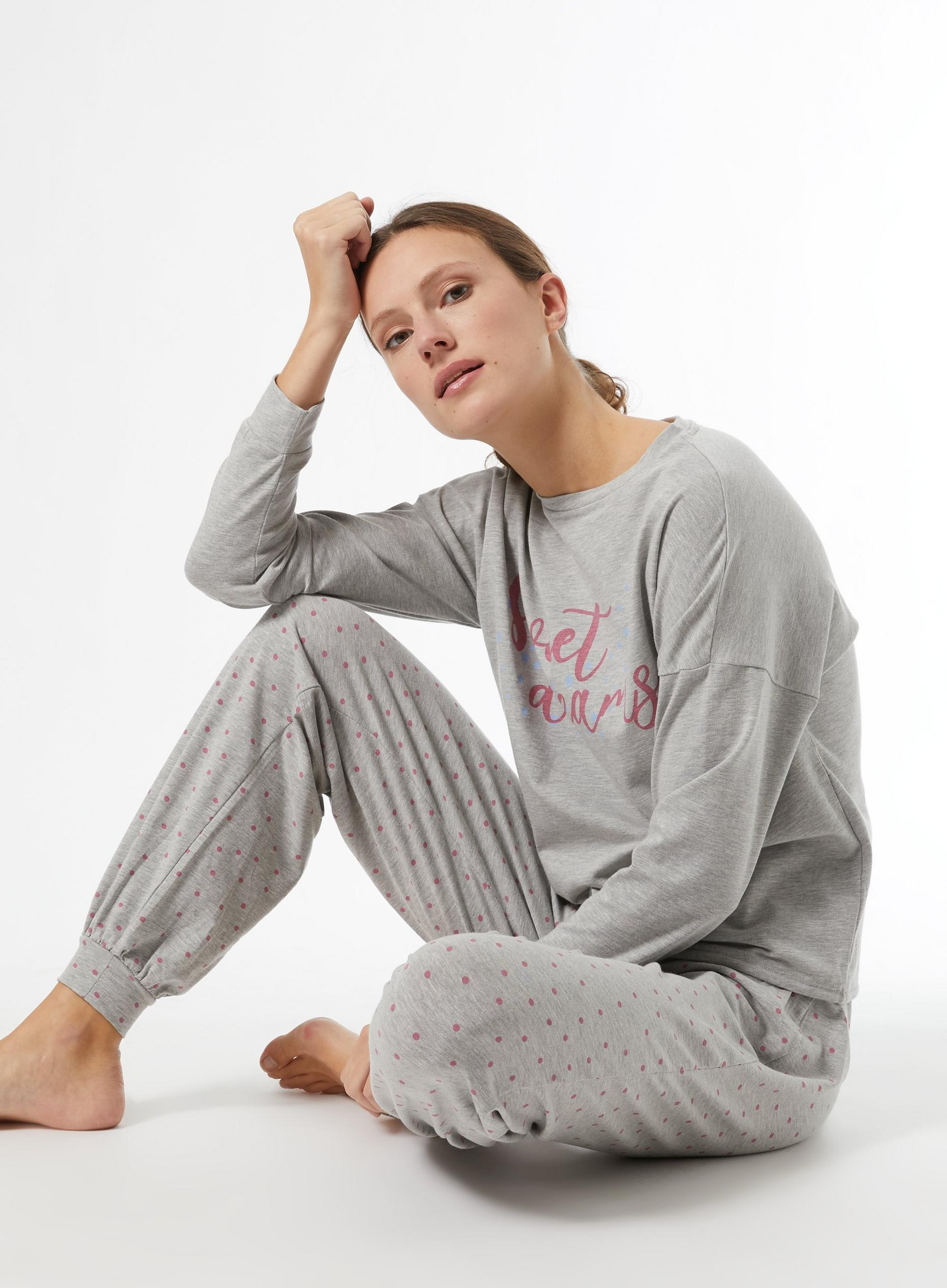 Grey Sweet Dream Pyjama Set