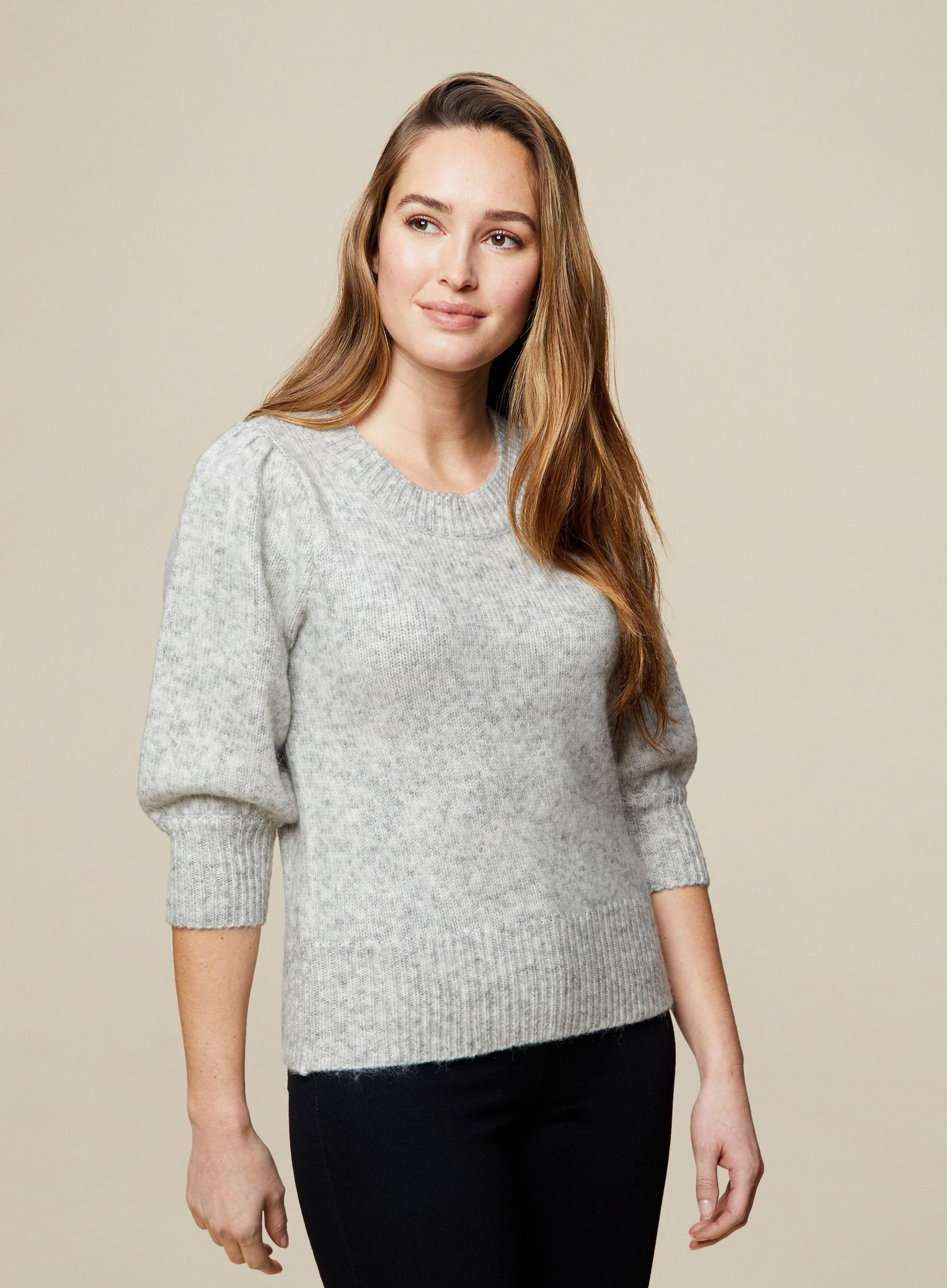 Grey Short Sleeve Jumper