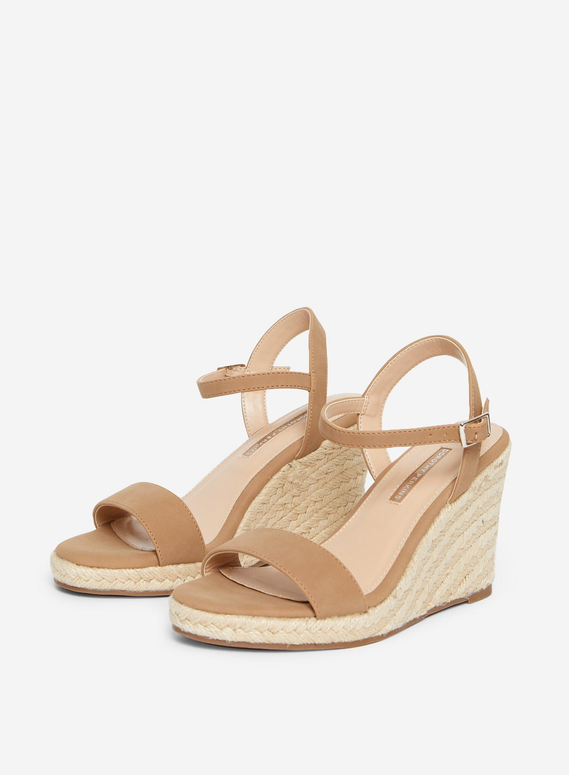 Taupe Ray-Ray Wedge Sandal