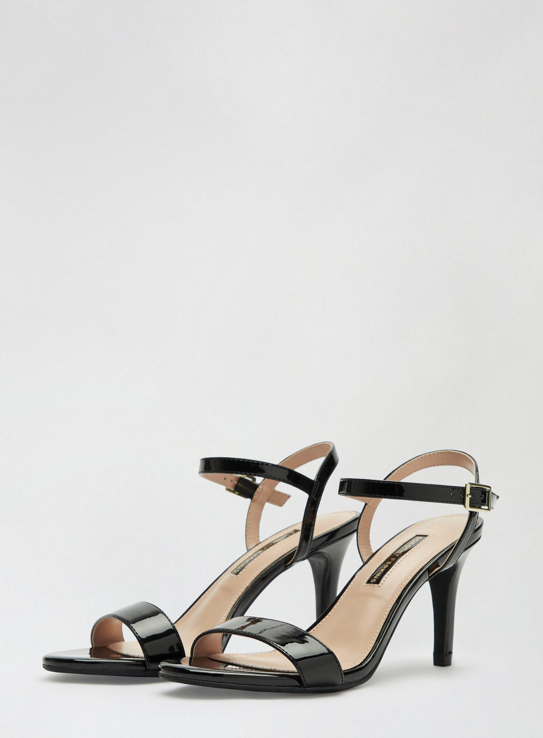 Black Sizzle Heeled Sandals
