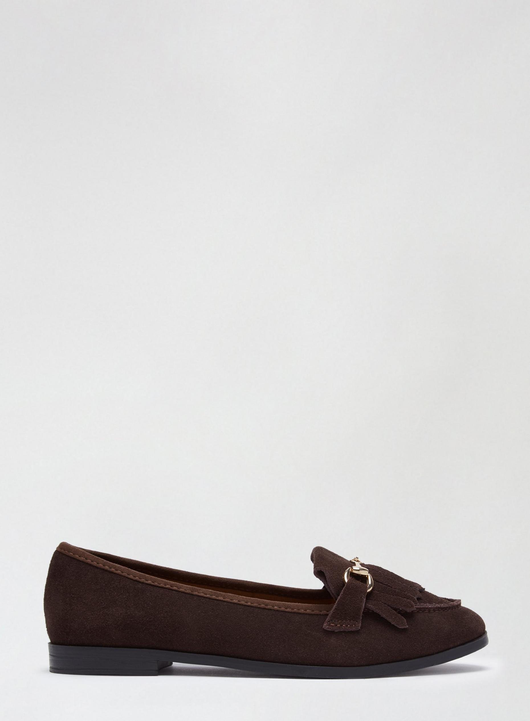 Wide Fit Chocolate Lime Loafers