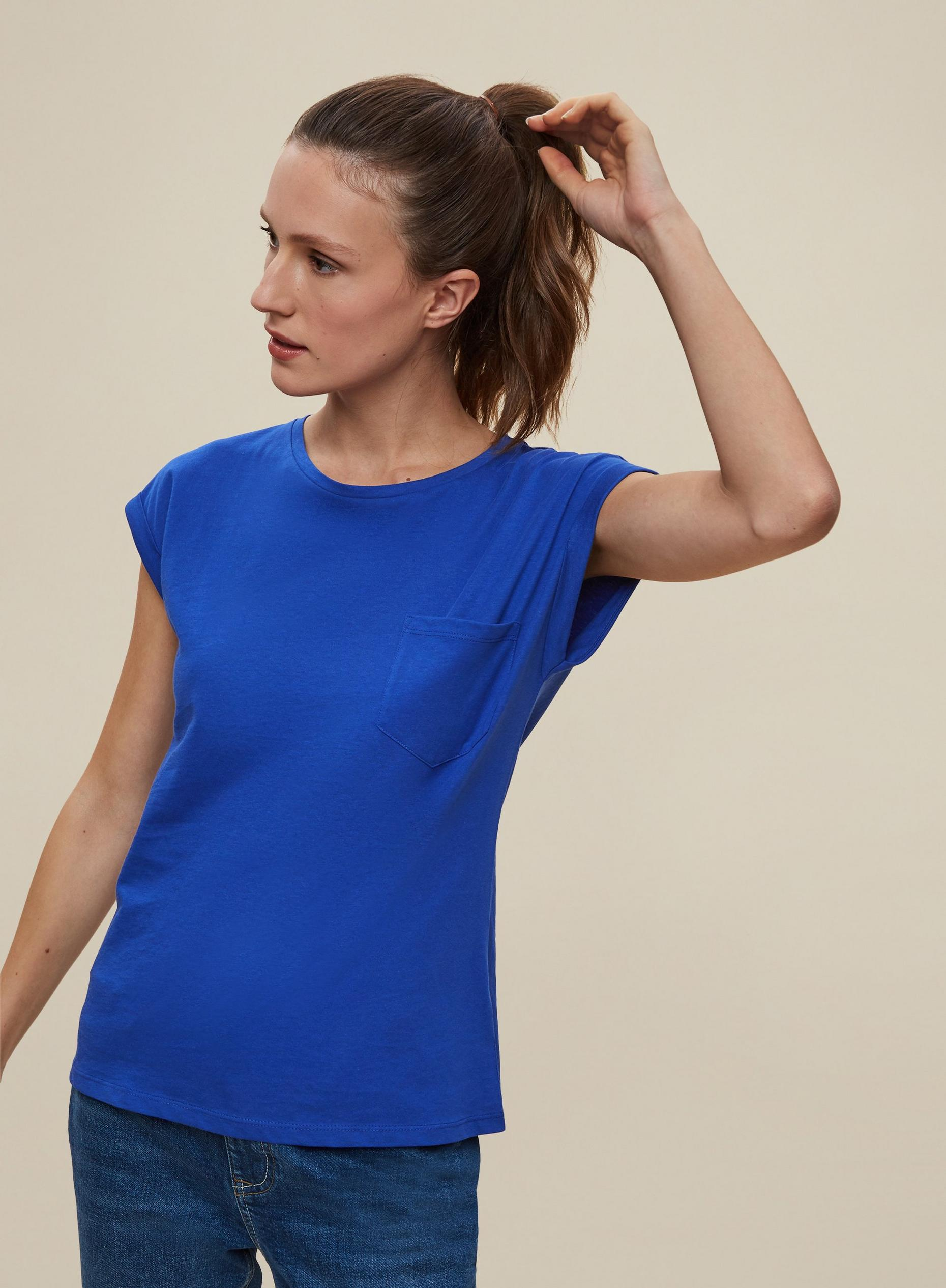Blue Organic Cotton T-Shirt