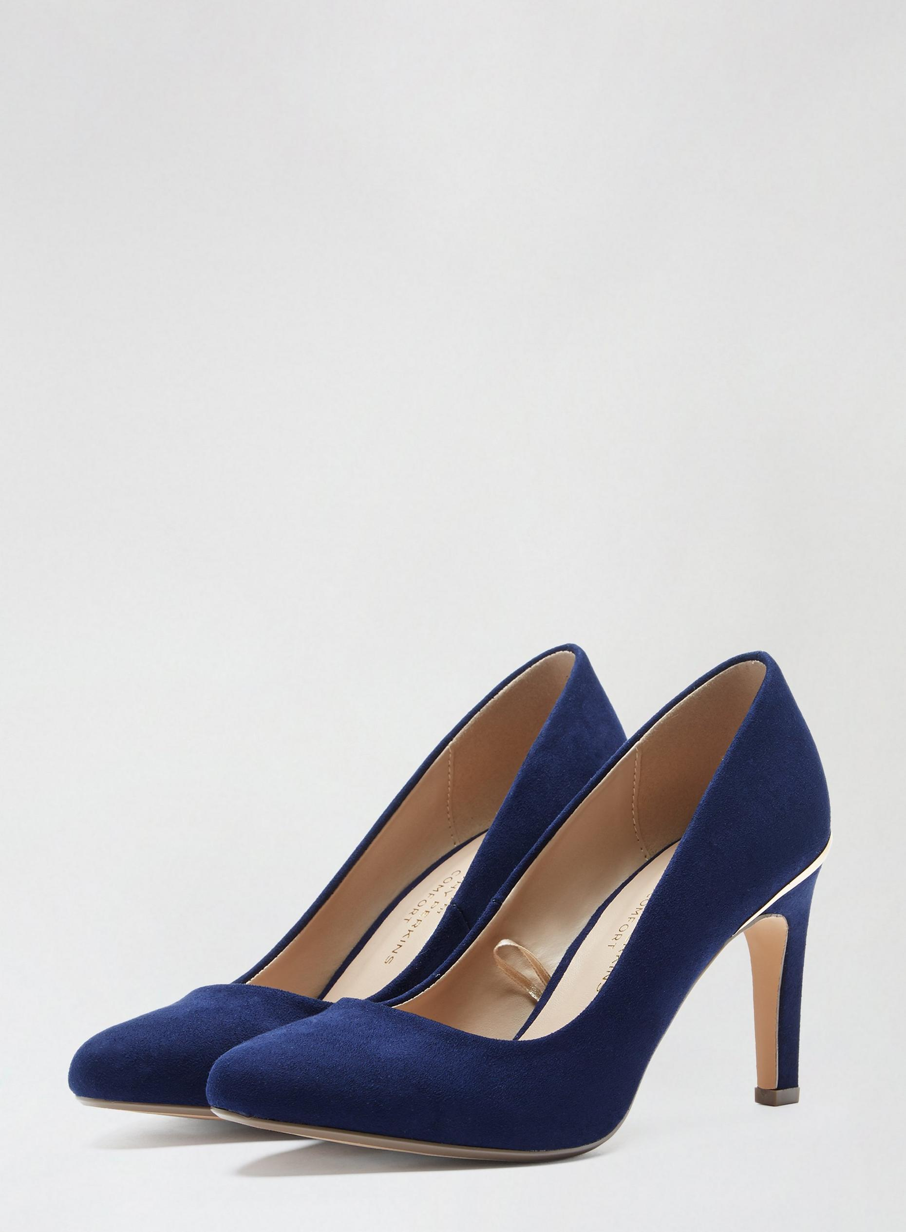 Wide Fit Navy Comfort Deirdre Court Shoes