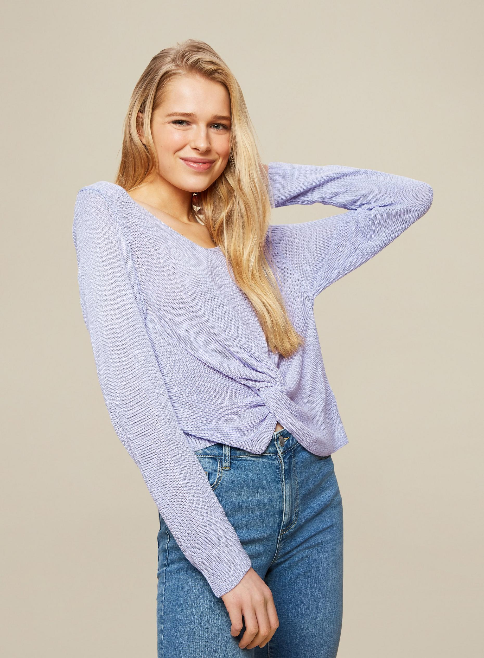 Blue Twist Front Jumper