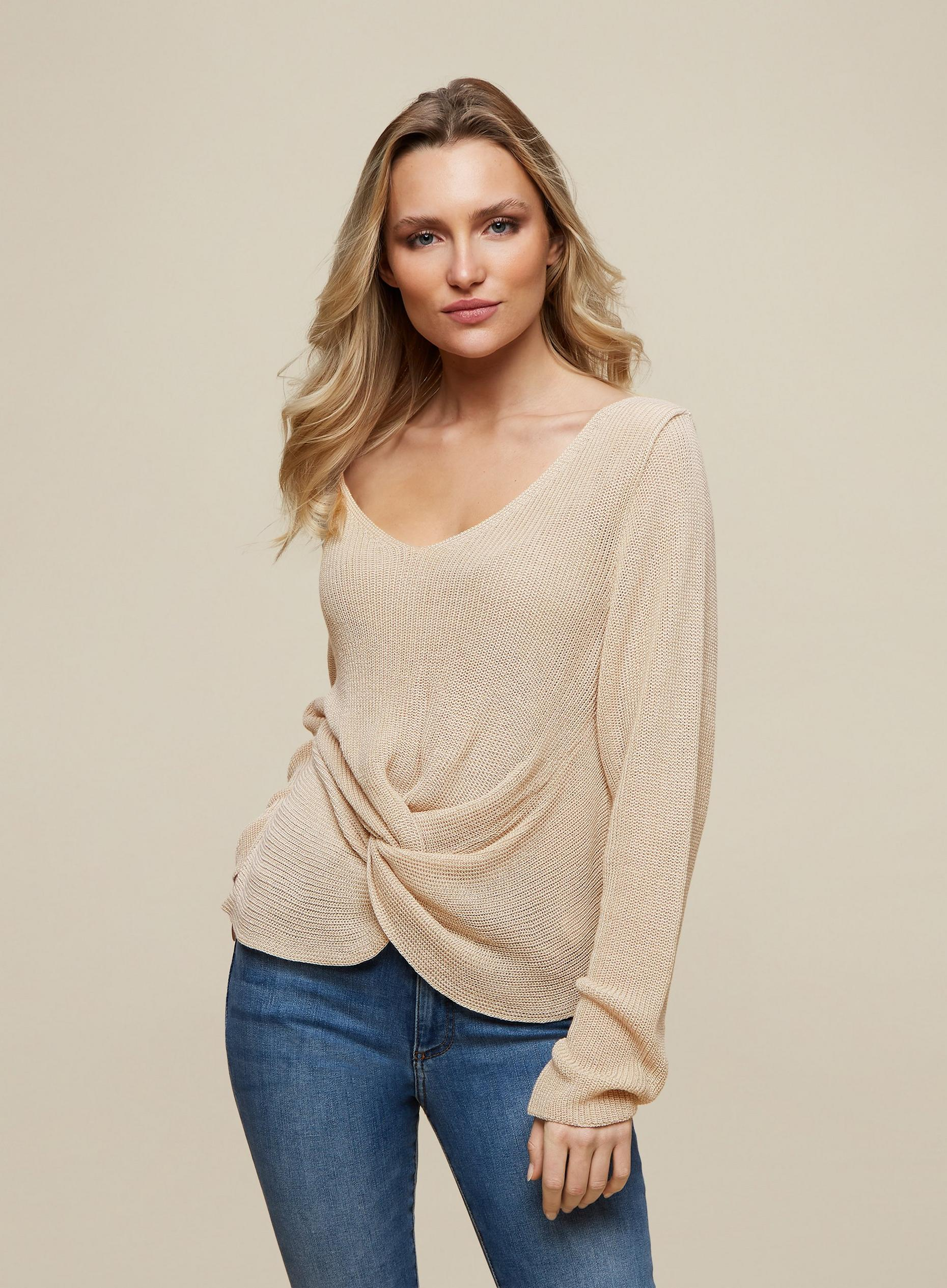 Oat Twist Front Jumper