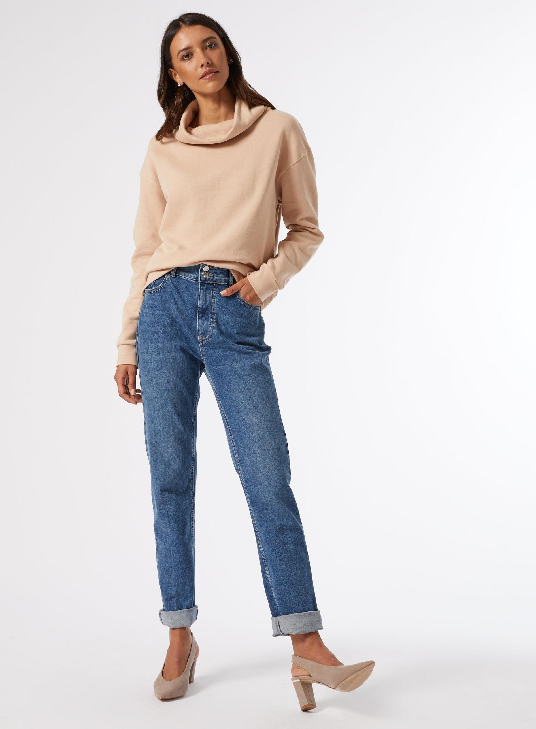 Camel Funnel Neck Sweatshirt