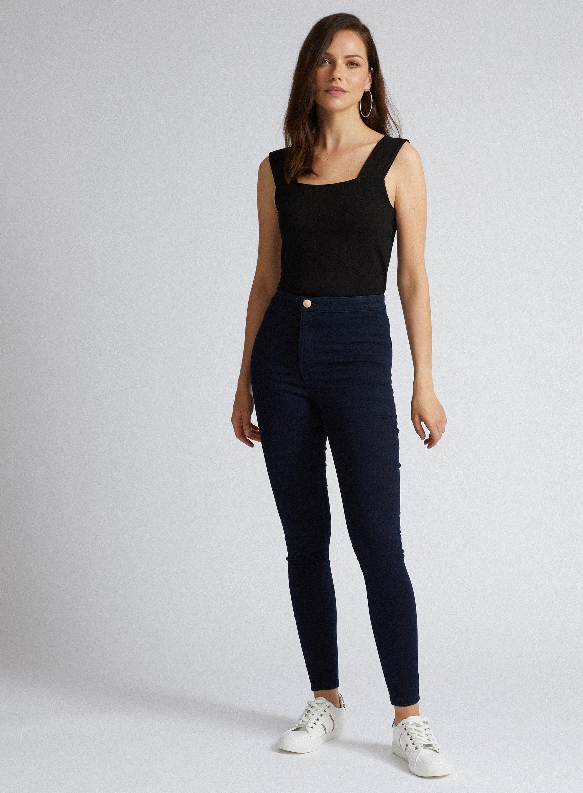 Indigo Short Lyla High Waisted Skinny Jeans