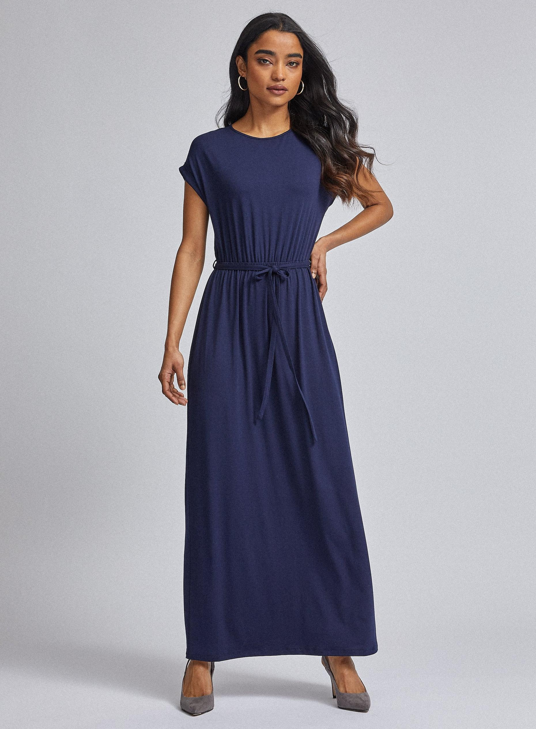 Petite Navy Jersey Maxi Dress