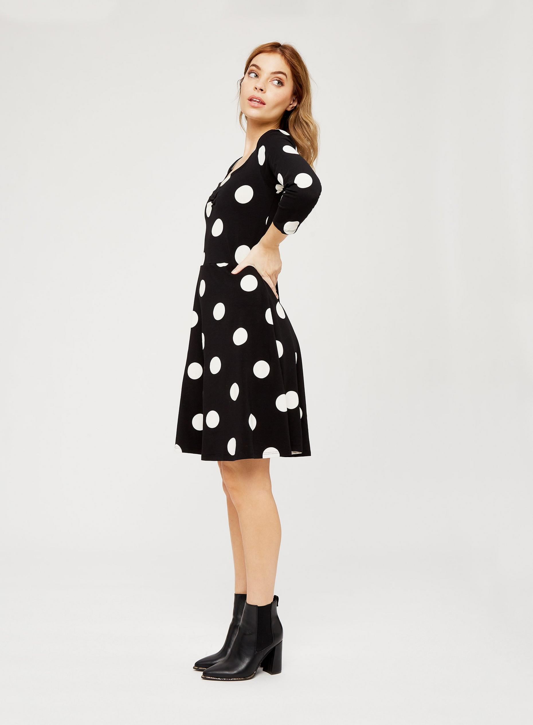 Petite Black Spot Dress