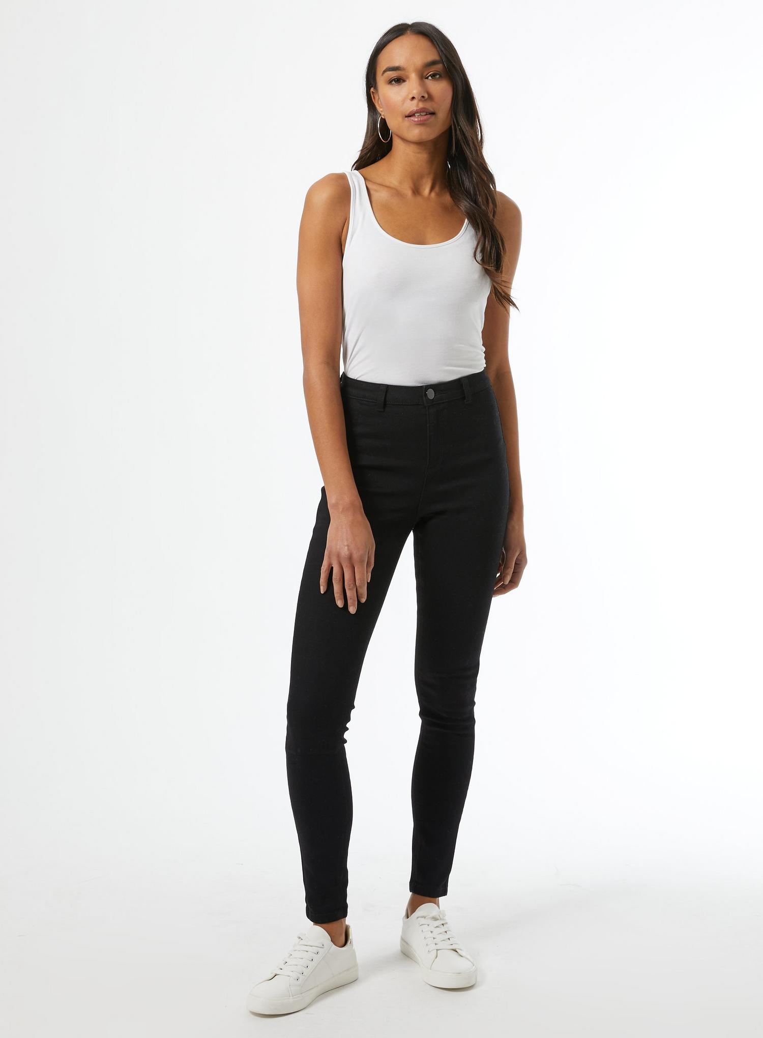 105 Black Long Lyla High Waisted Skinny Jean image number 2