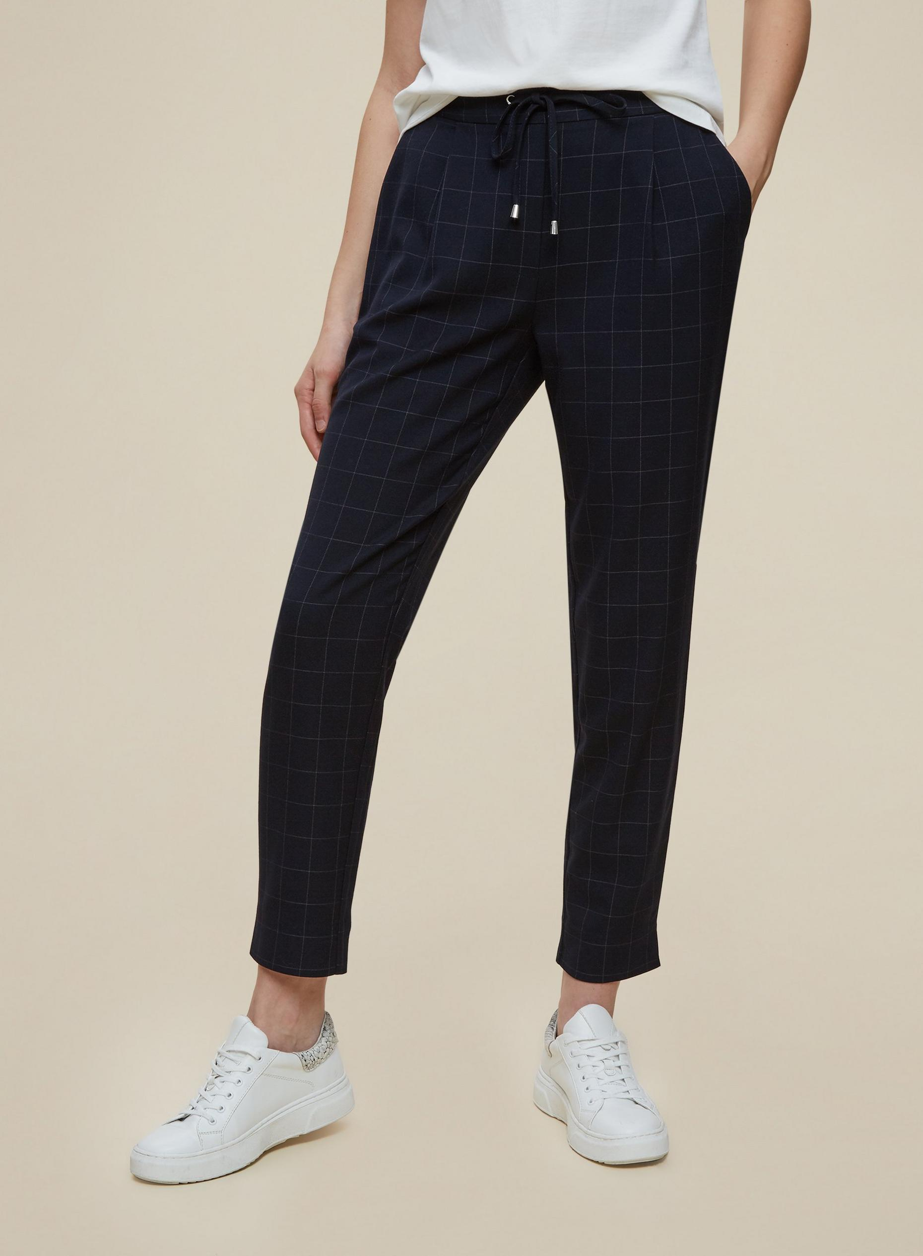 Navy Check Formal Jogger
