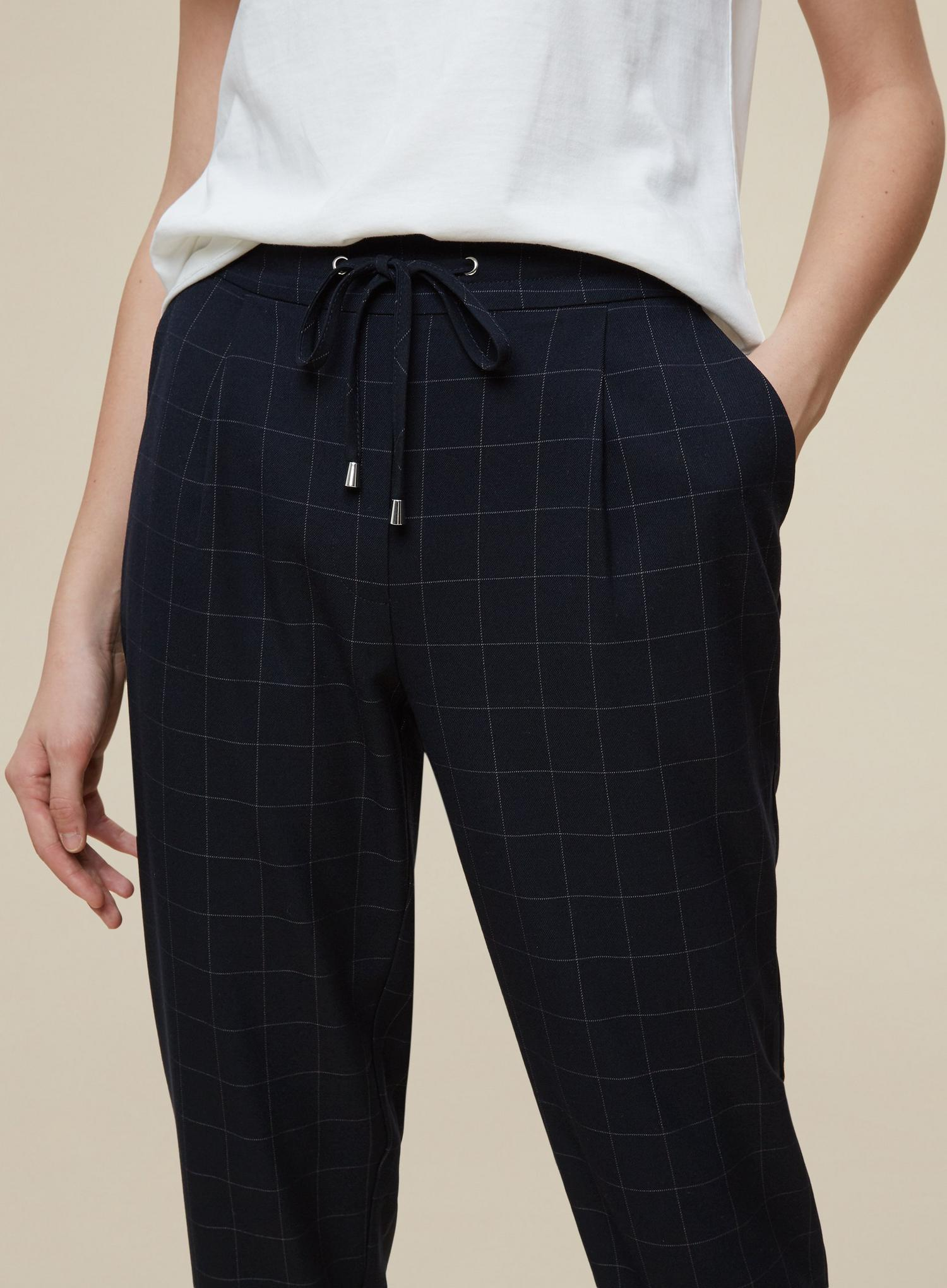 148 Navy Check Formal Jogger image number 4