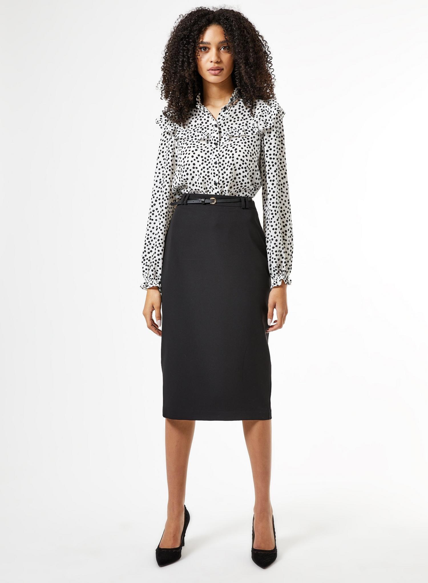 105 Black Tailored Pencil Skirt image number 1