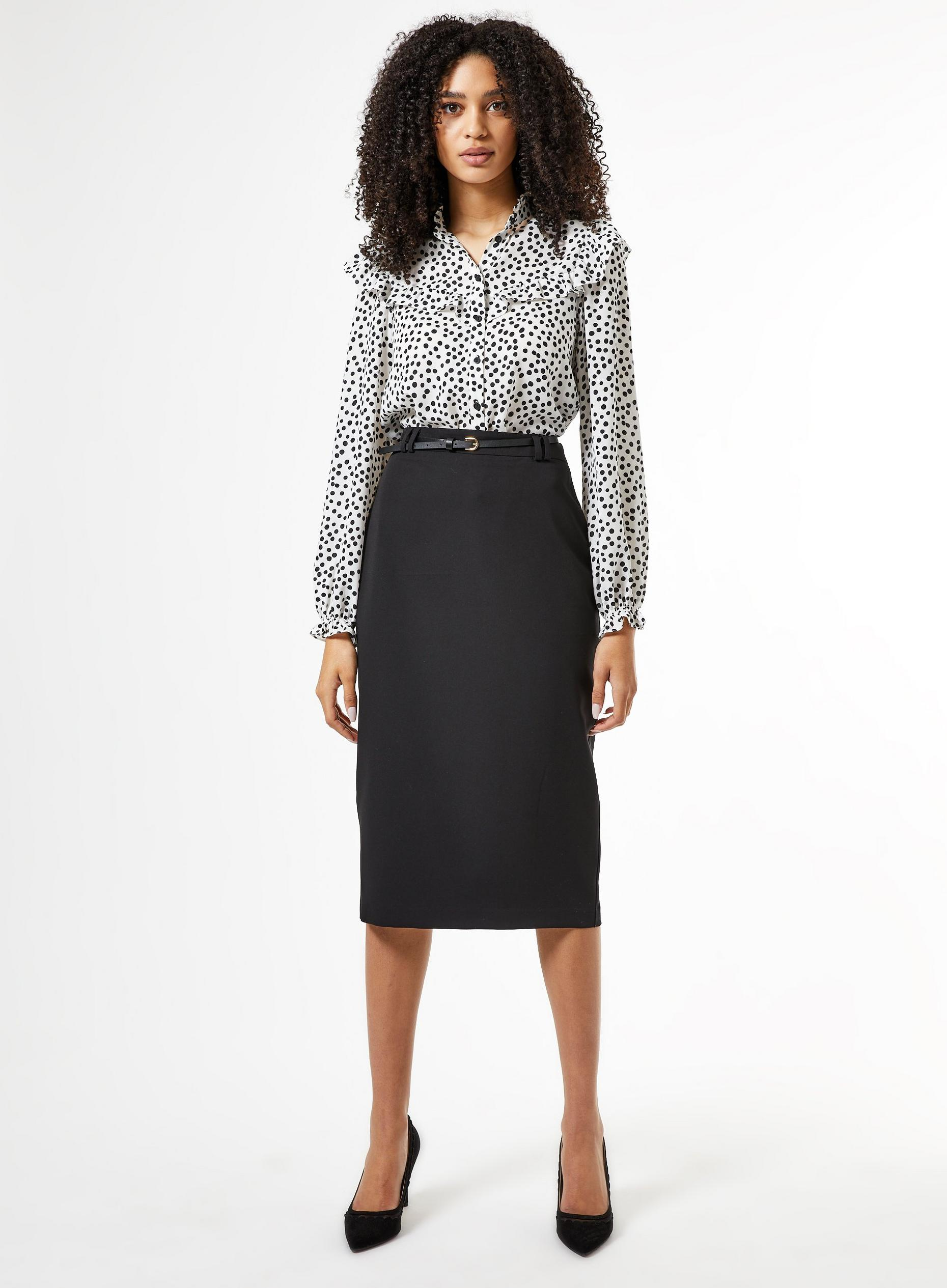 Black Tailored Pencil Skirt