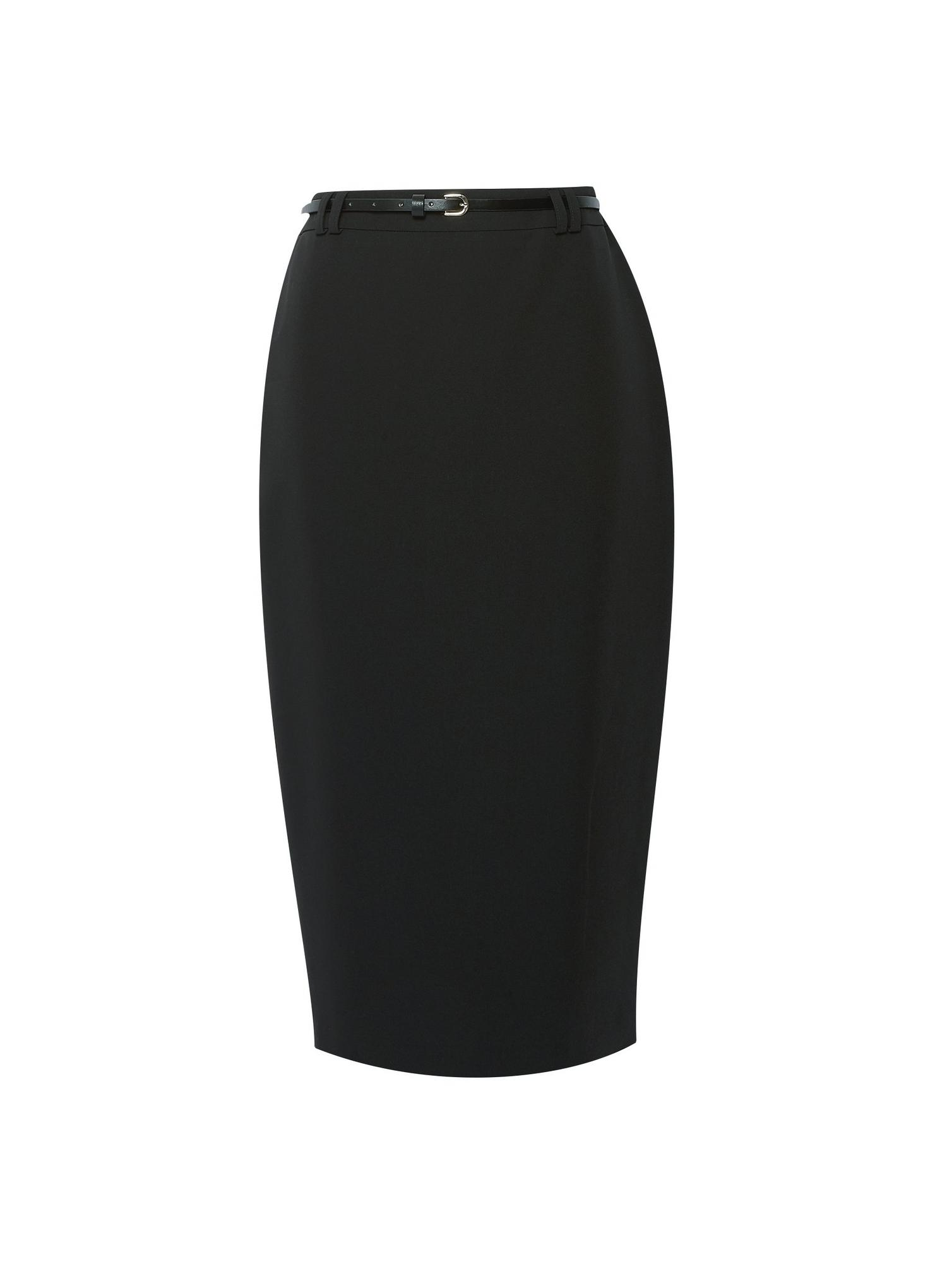 105 Black Tailored Pencil Skirt image number 2