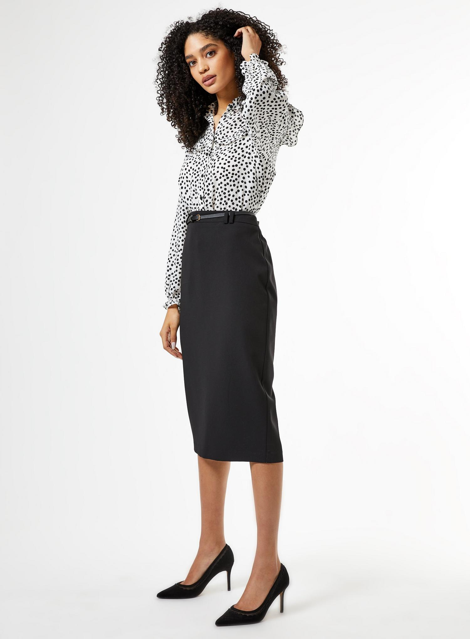 105 Black Tailored Pencil Skirt image number 3