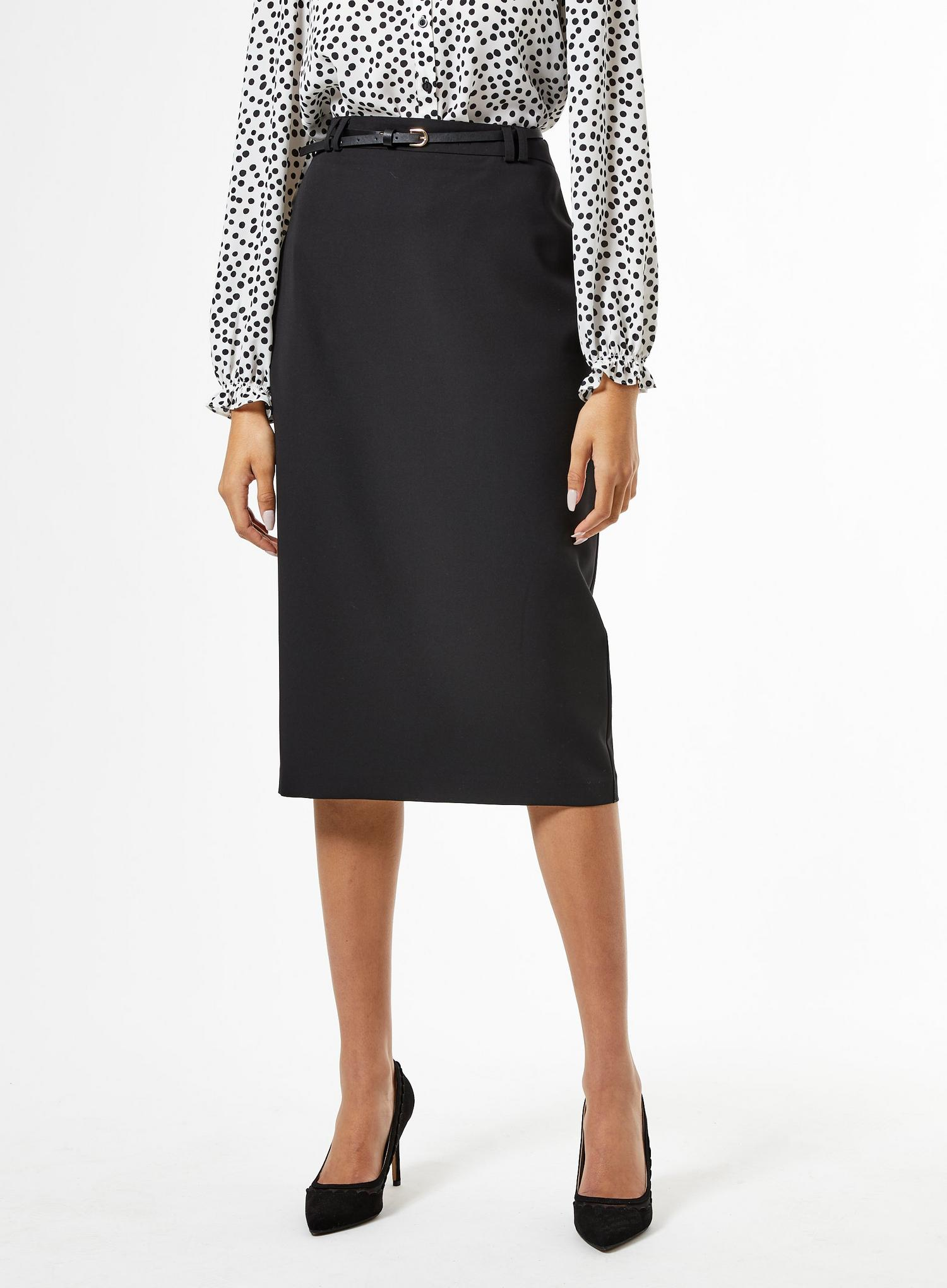 105 Black Tailored Pencil Skirt image number 4