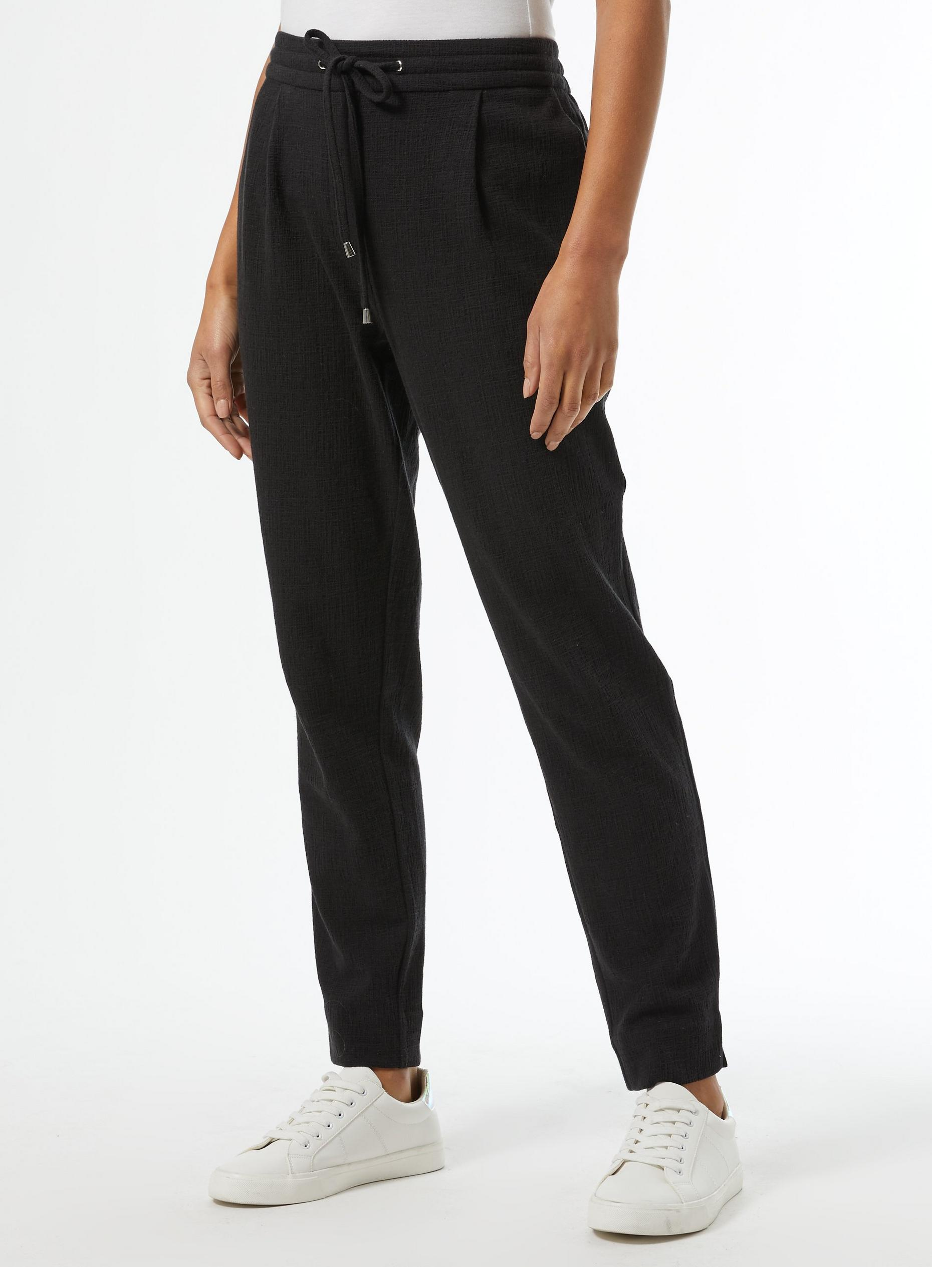 Black Textured Formal Jogger Trousers