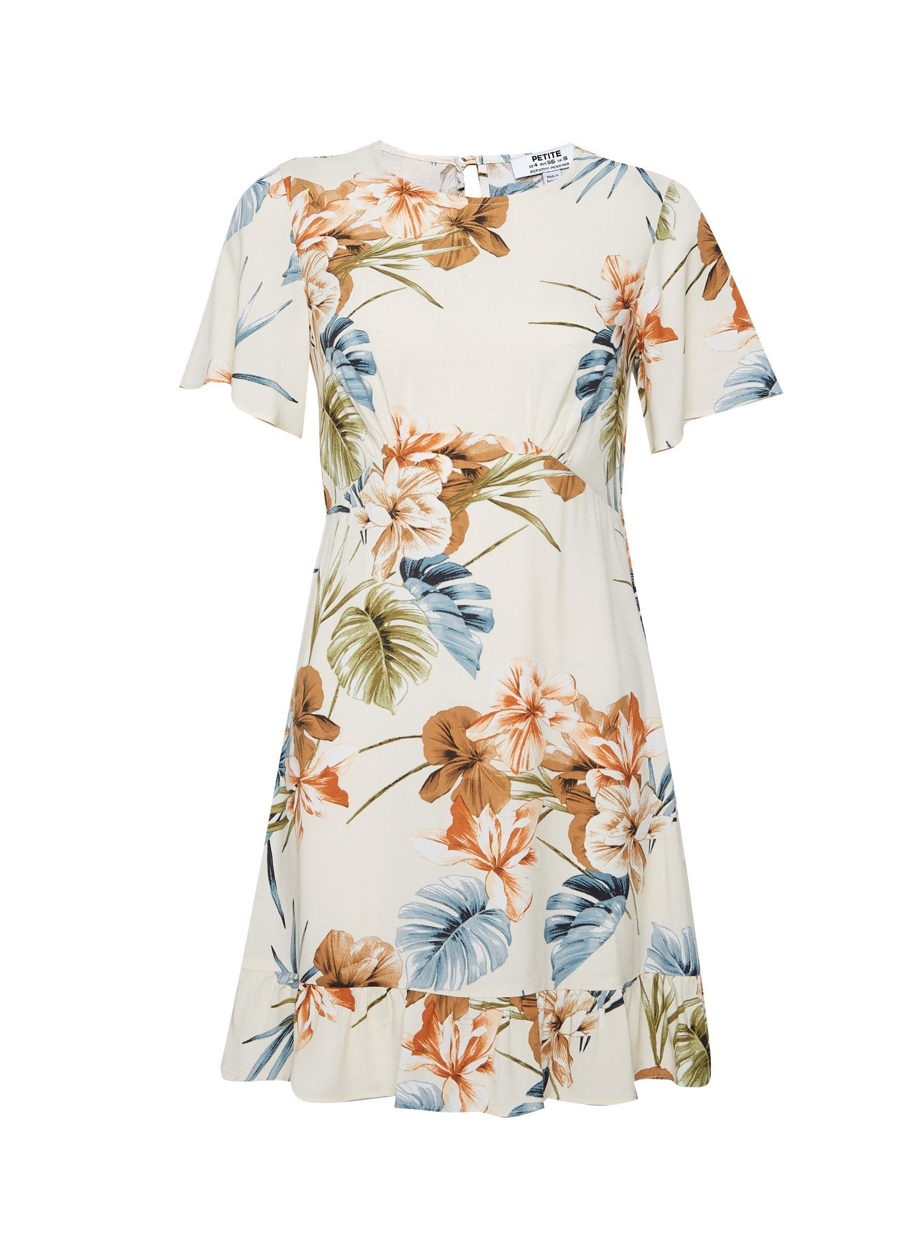 Petite Tropical Tea Dress