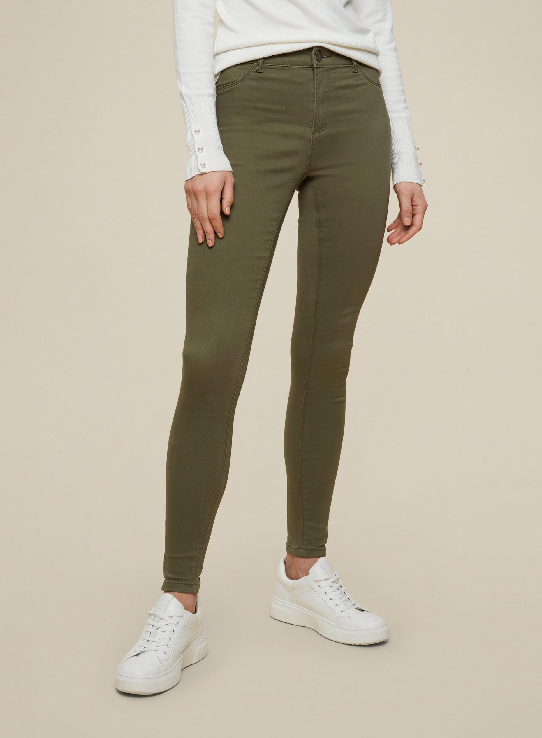 Khaki Regular Peached Frankie Skinny Jeans