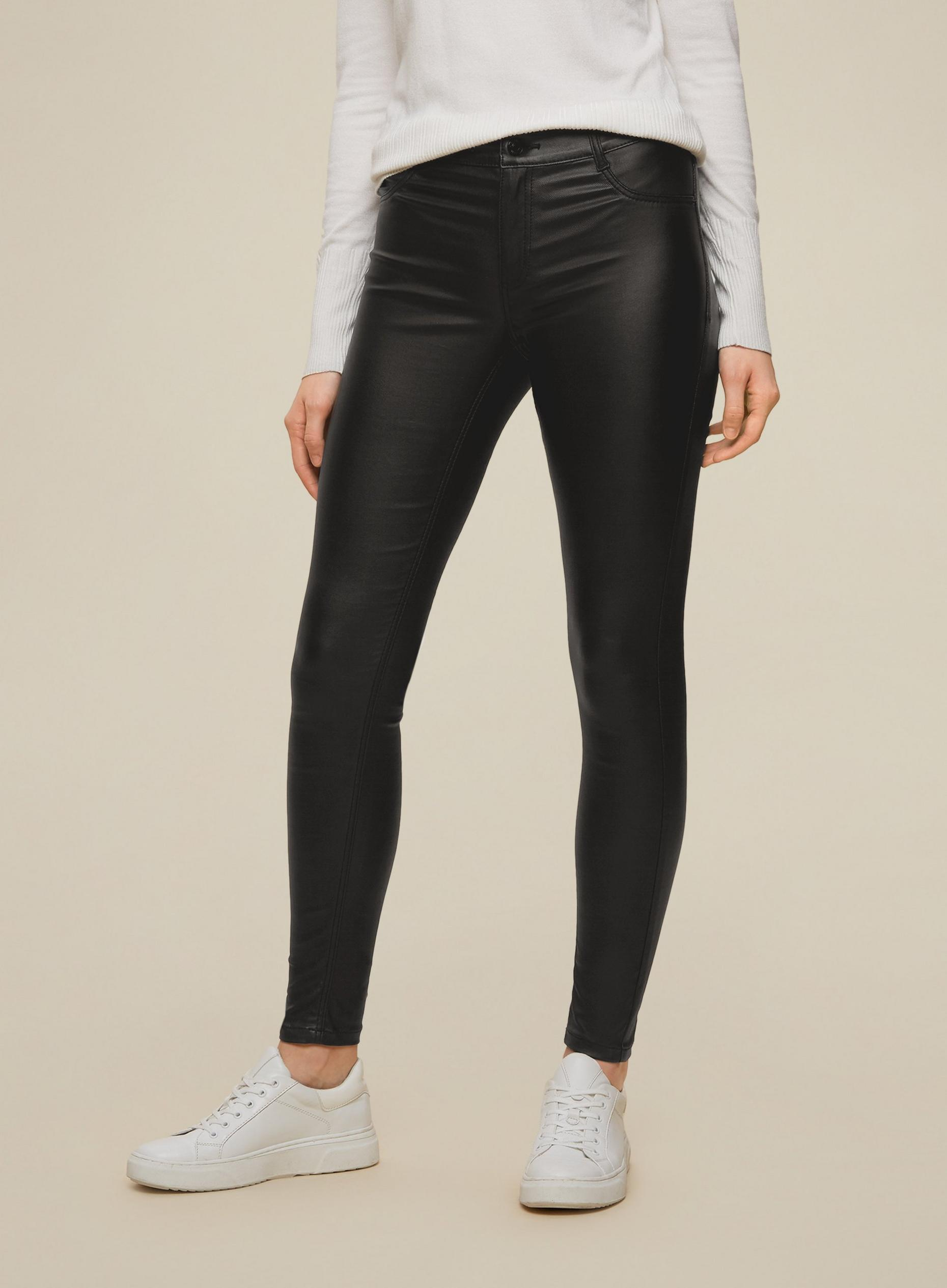 Black Short Coated Frankie Skinny Jeans