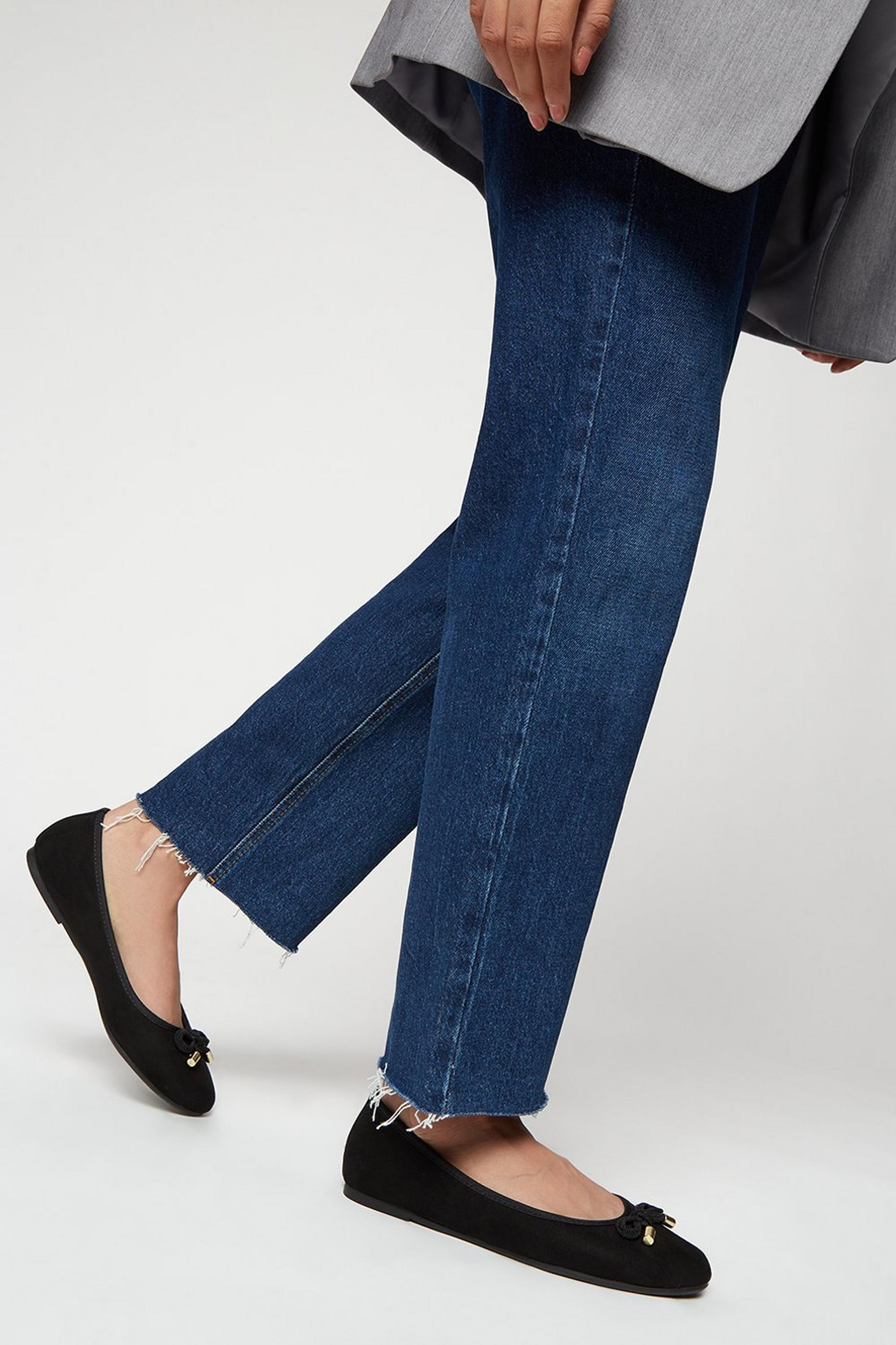 Wide Fit Eco Black Peach Pumps