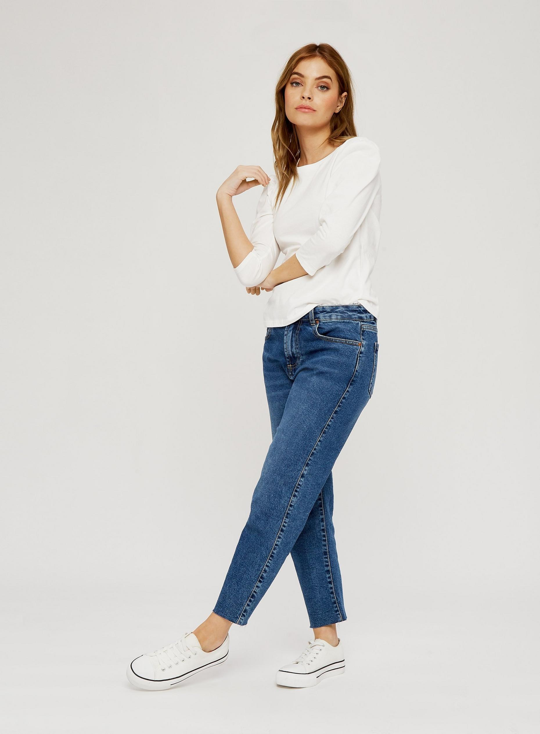 Petite White Puff Sleeve T-Shirt