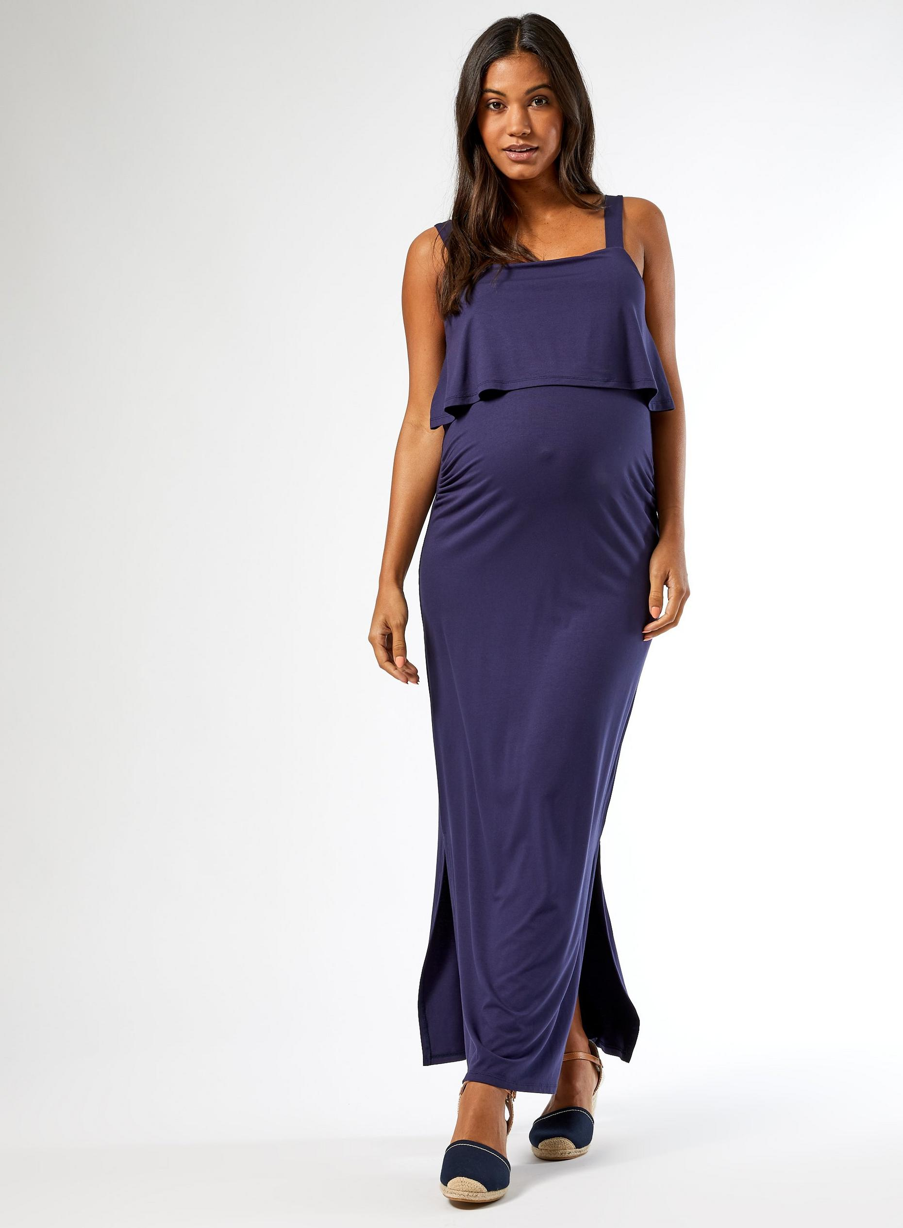 Maternity Navy Camisole Maxi Dress