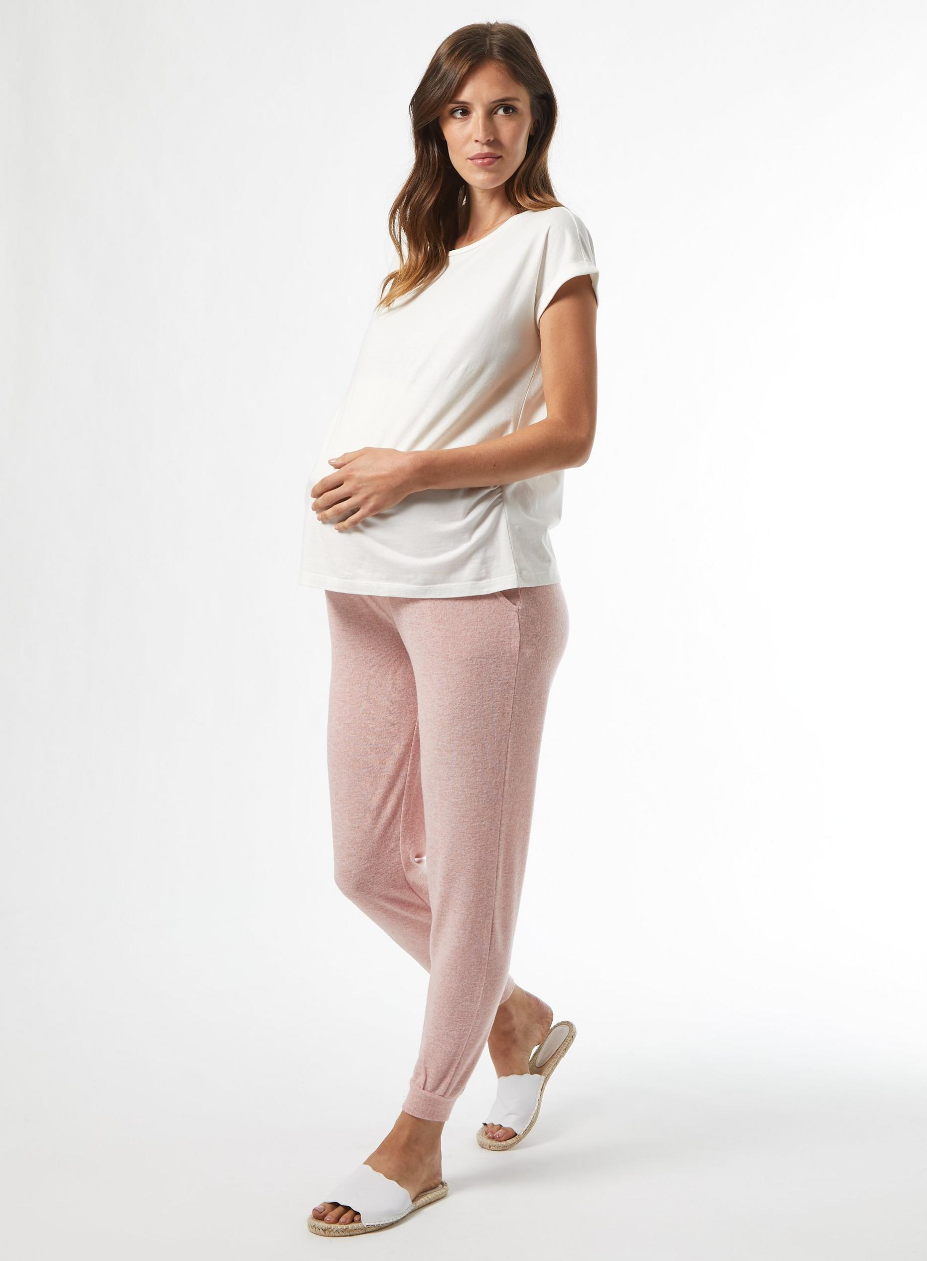 Maternity Blush Soft Touch Joggers