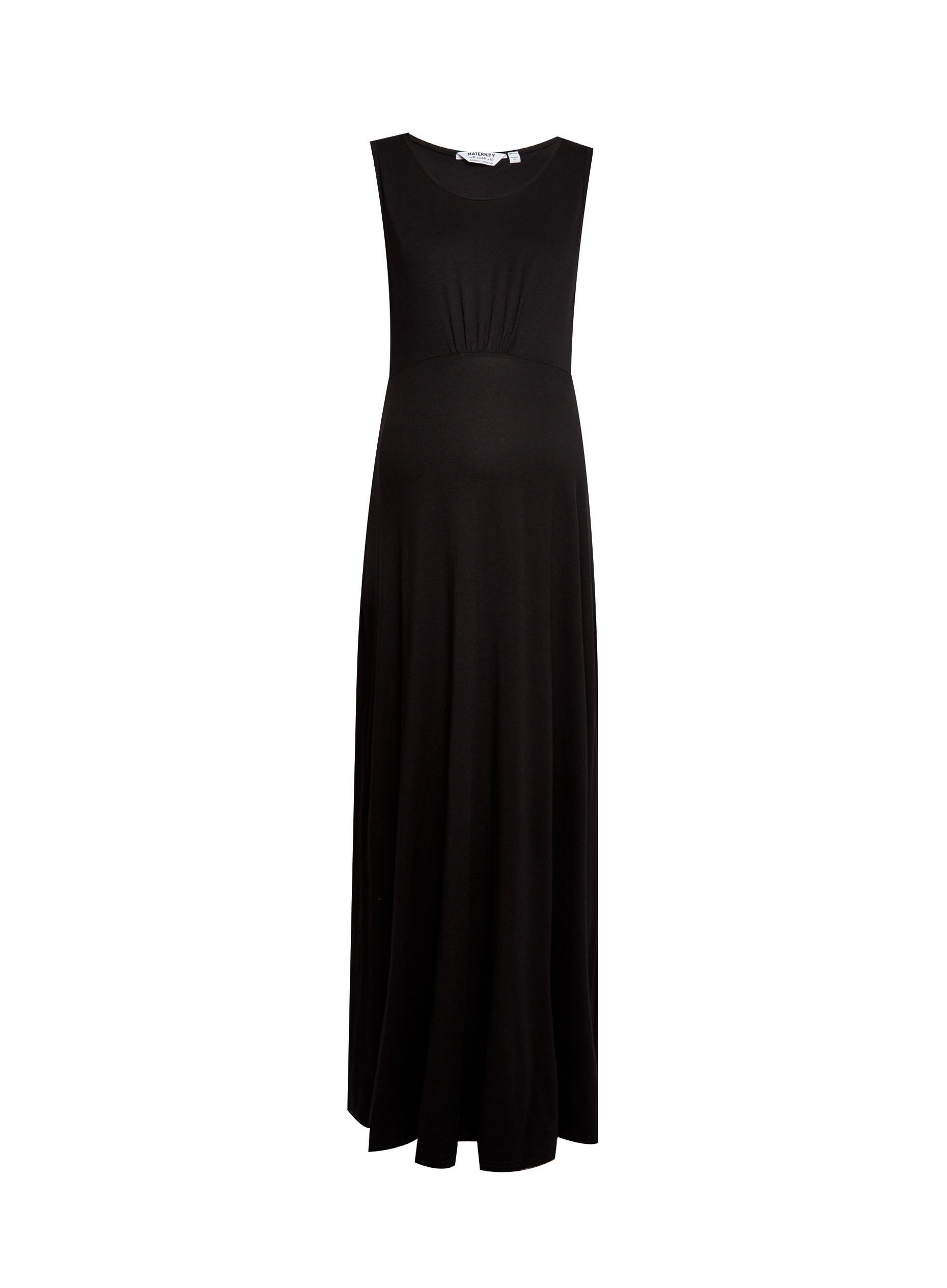 Maternity Black Empire Maxi Dress