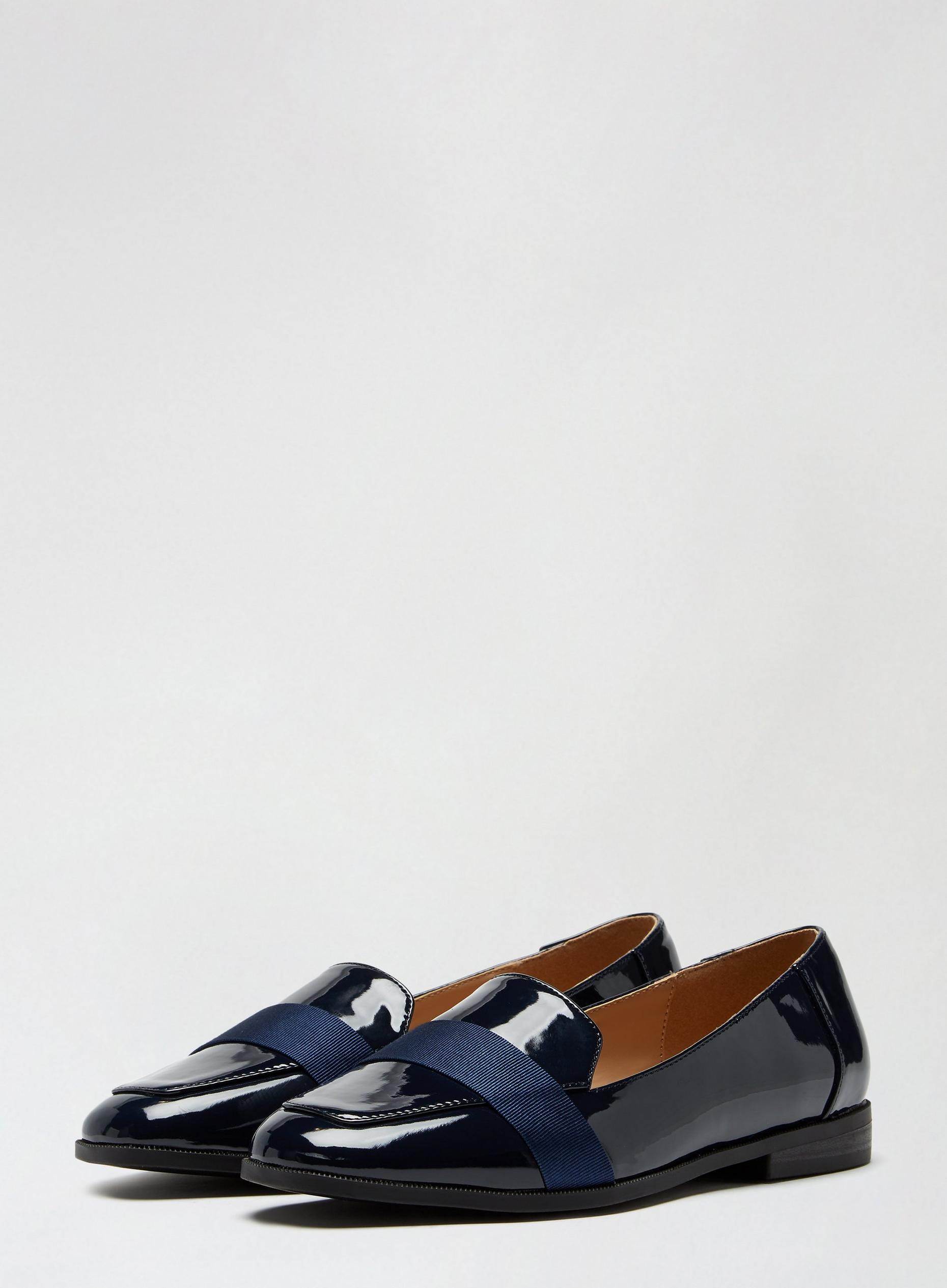 Wide Fit Navy Lama Loafers