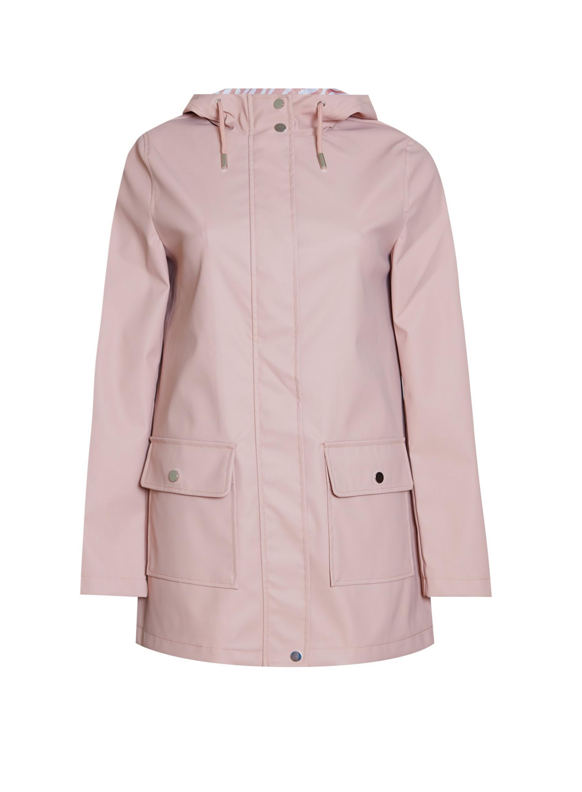 Blush PU Raincoat