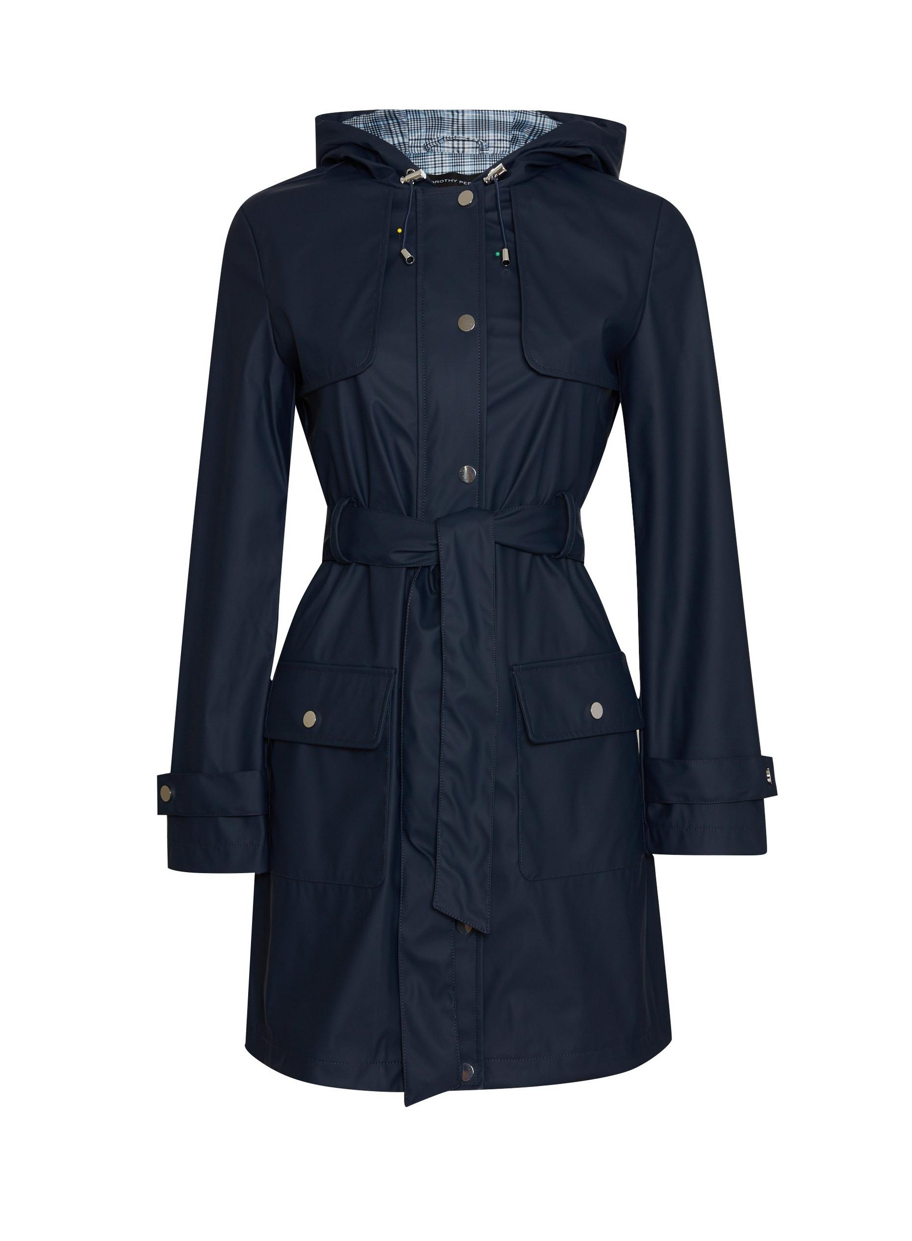 Navy Raincoat Mac