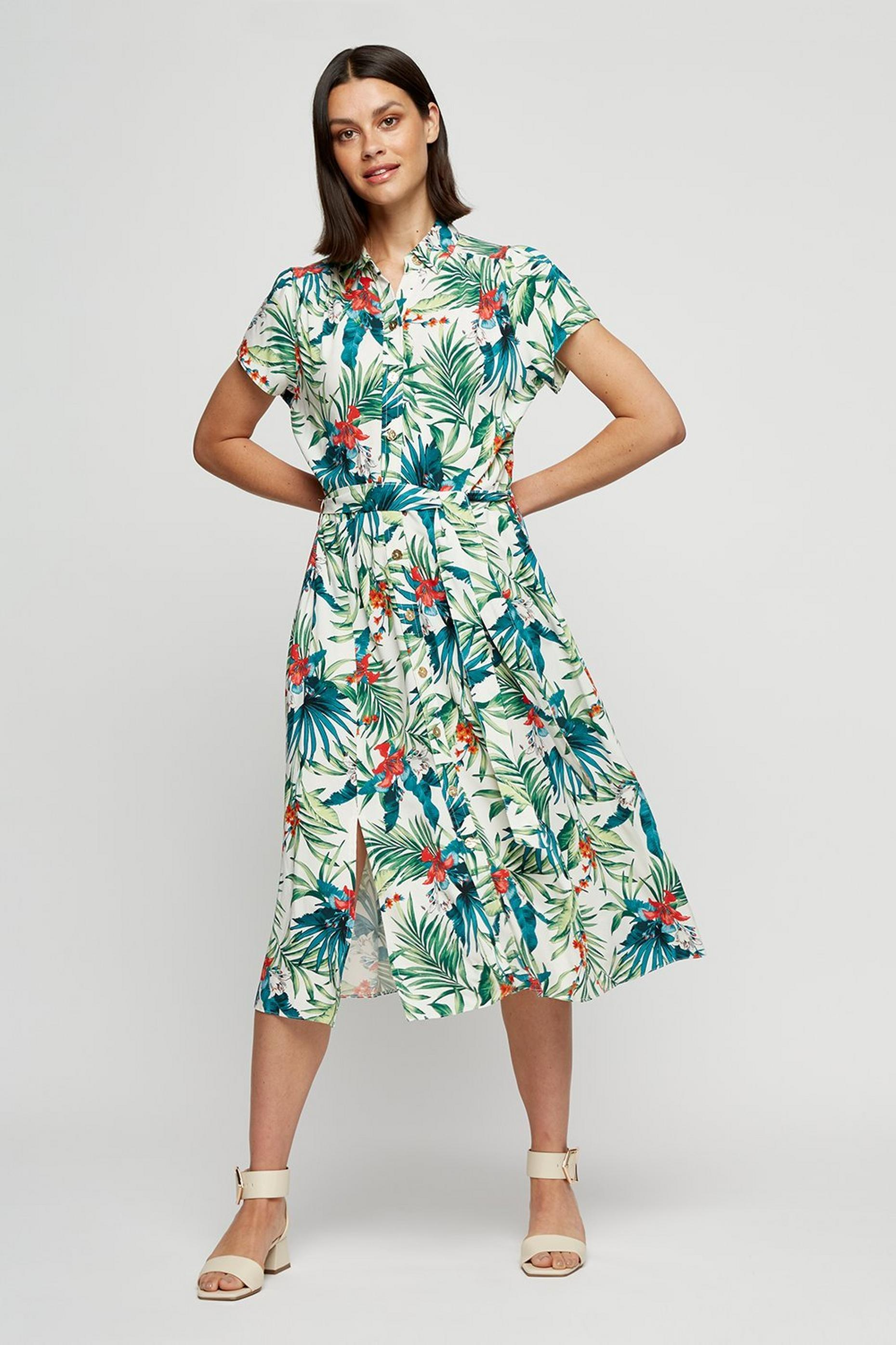 TROPICAL SHIRT DRESS