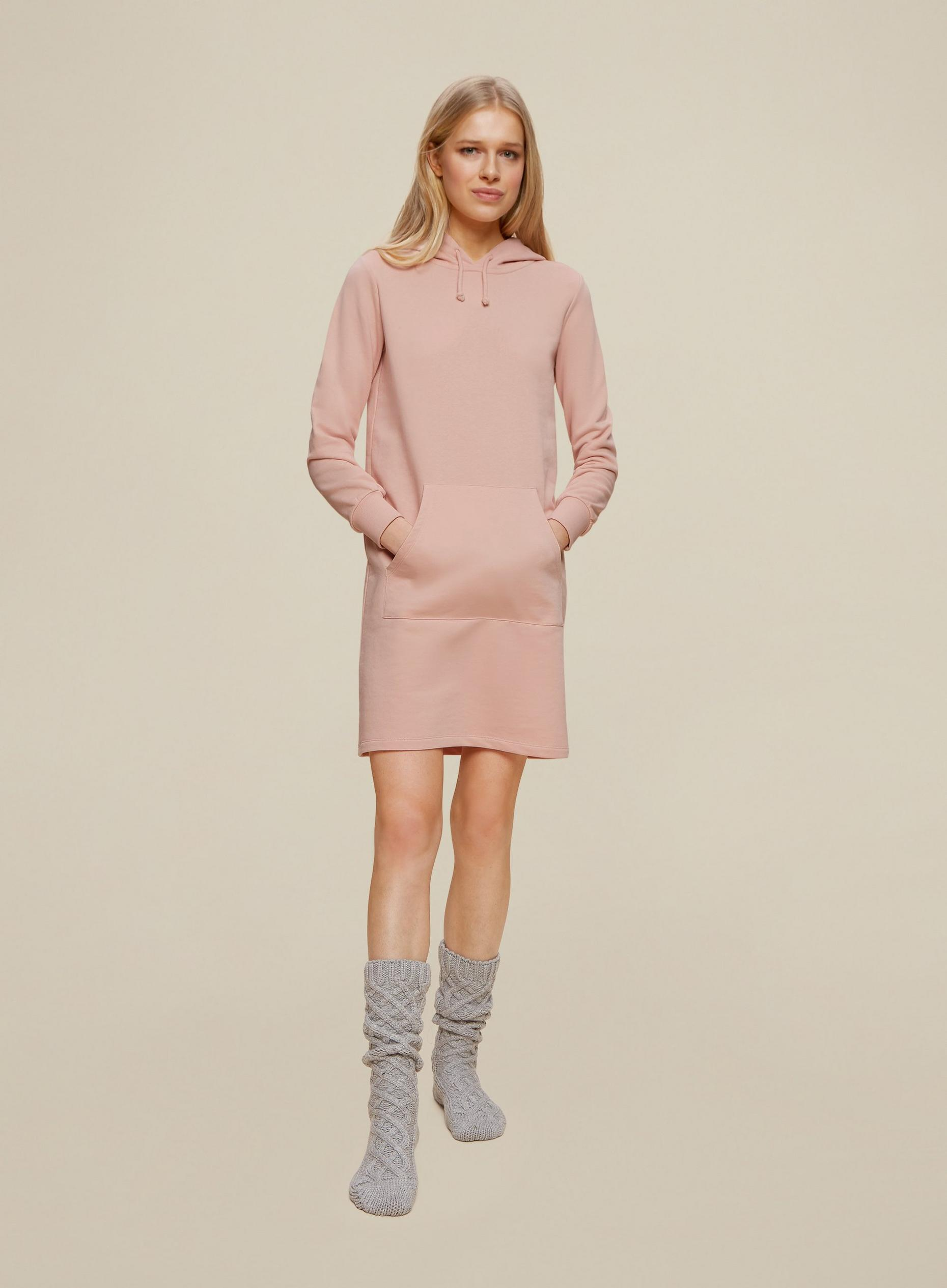 Pink Hooded Lounge Dress