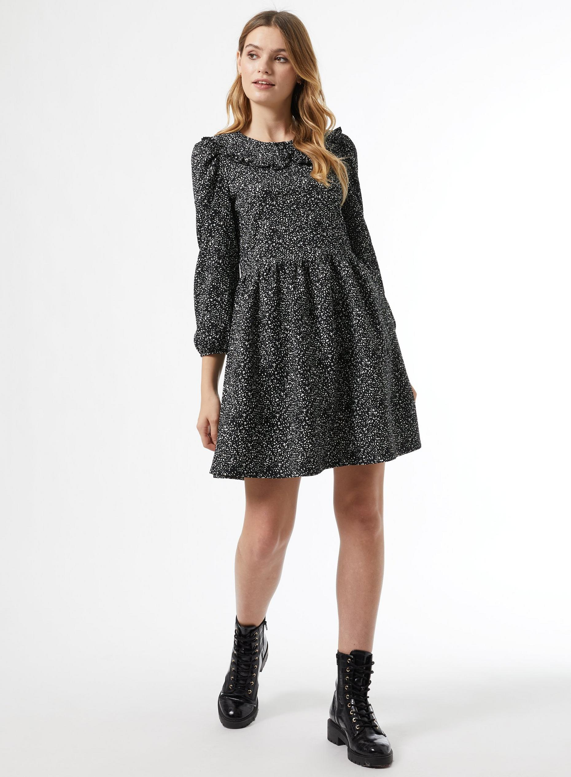 Mono Fit And Flare Dress