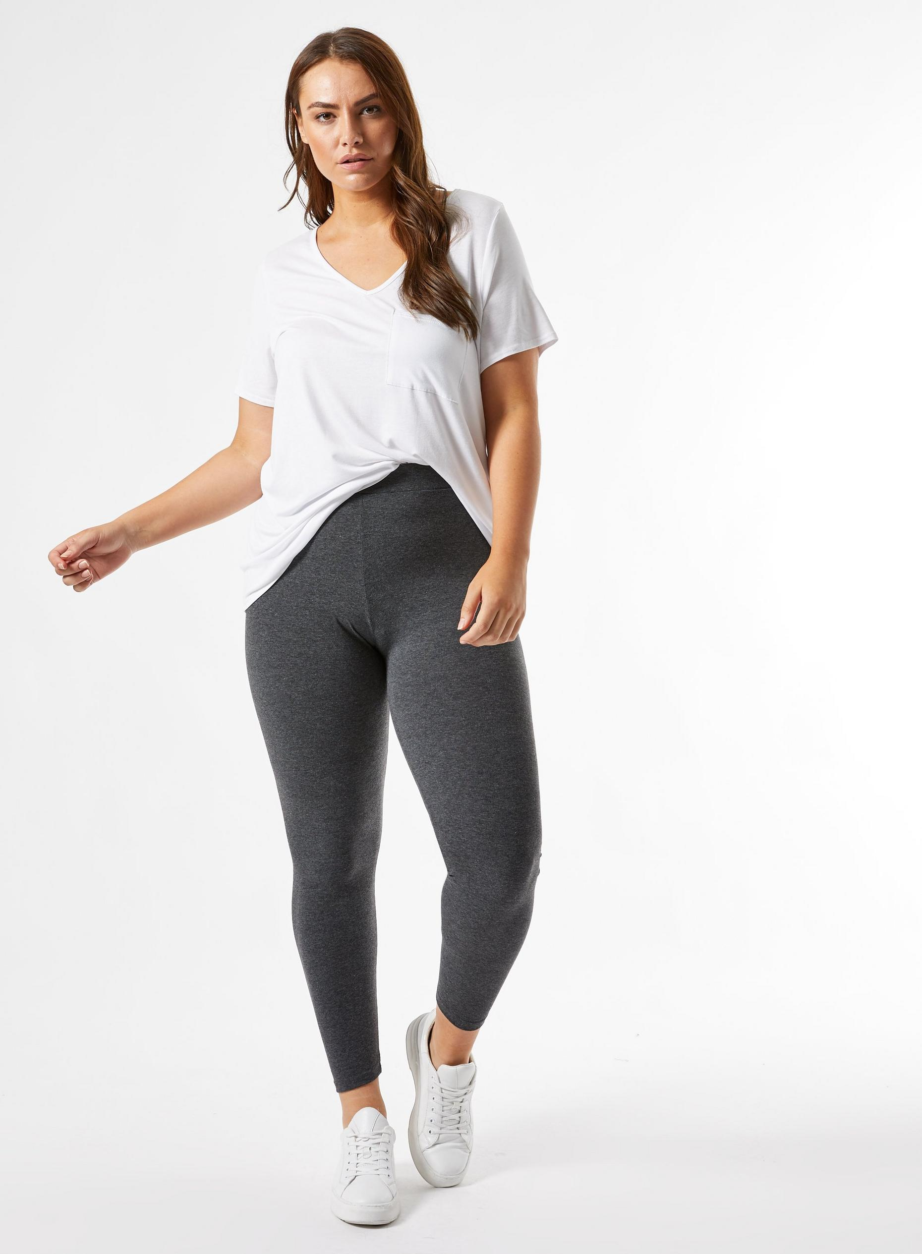 Curve Navy and Charcoal 2 Pack Leggings