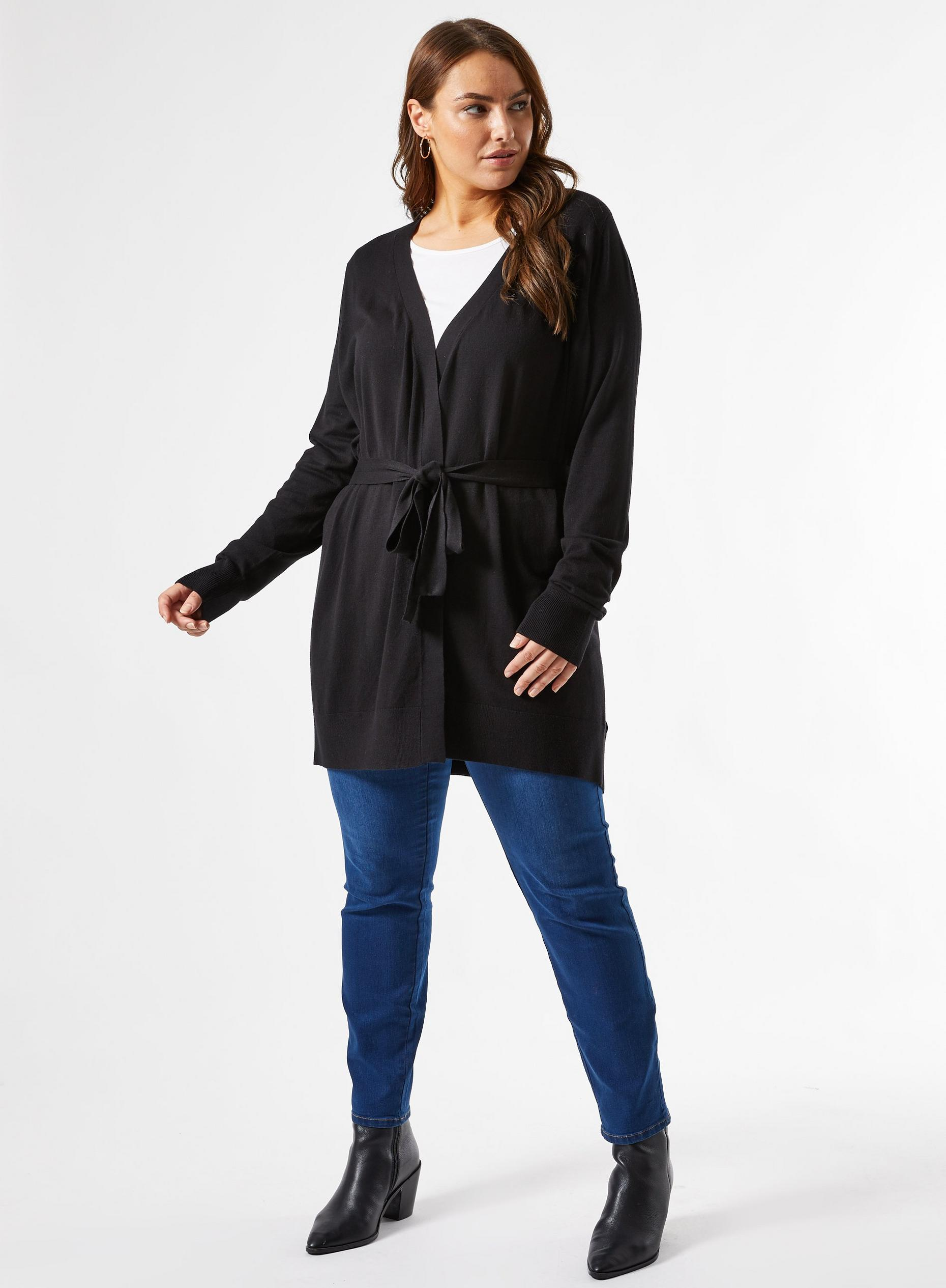 Curve Black Cardigan