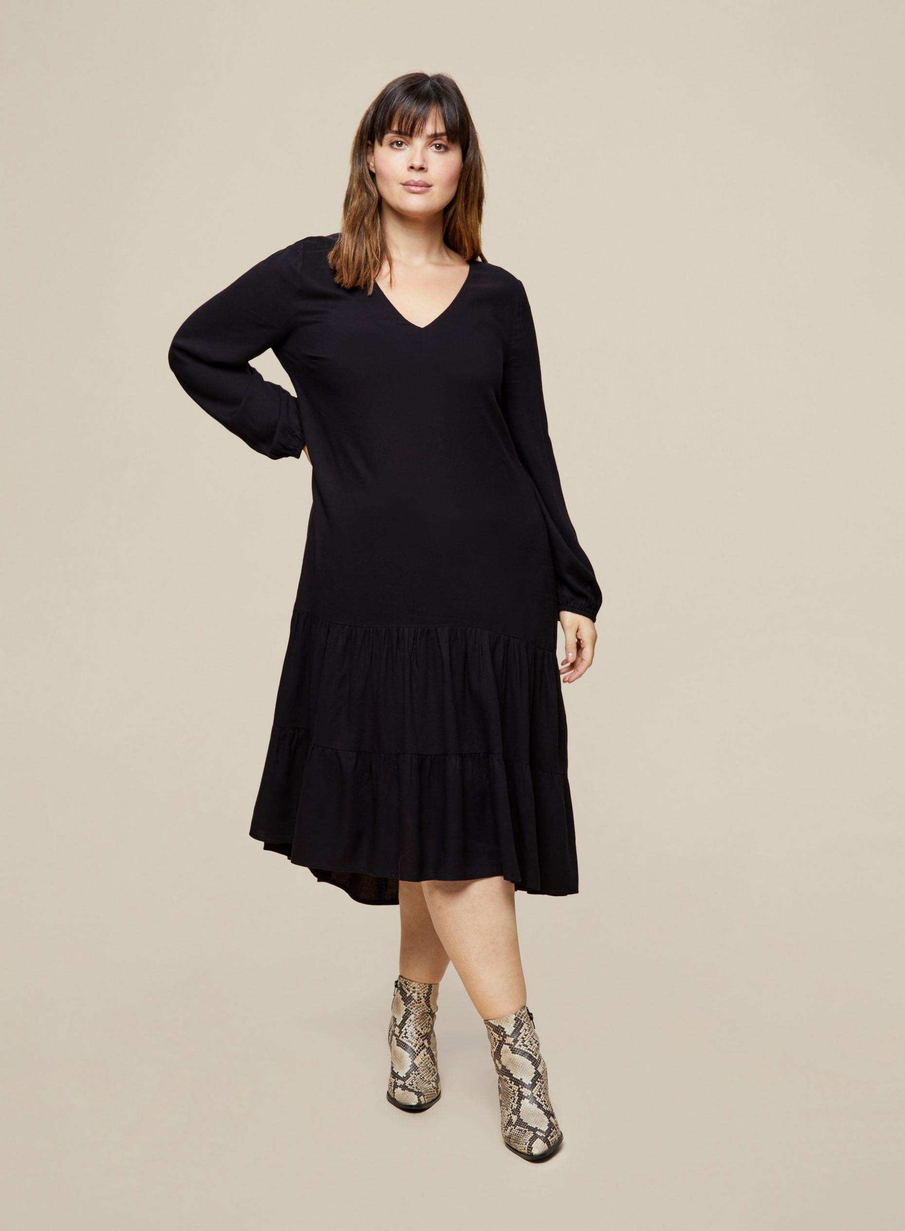 Curve Black Smock Dress