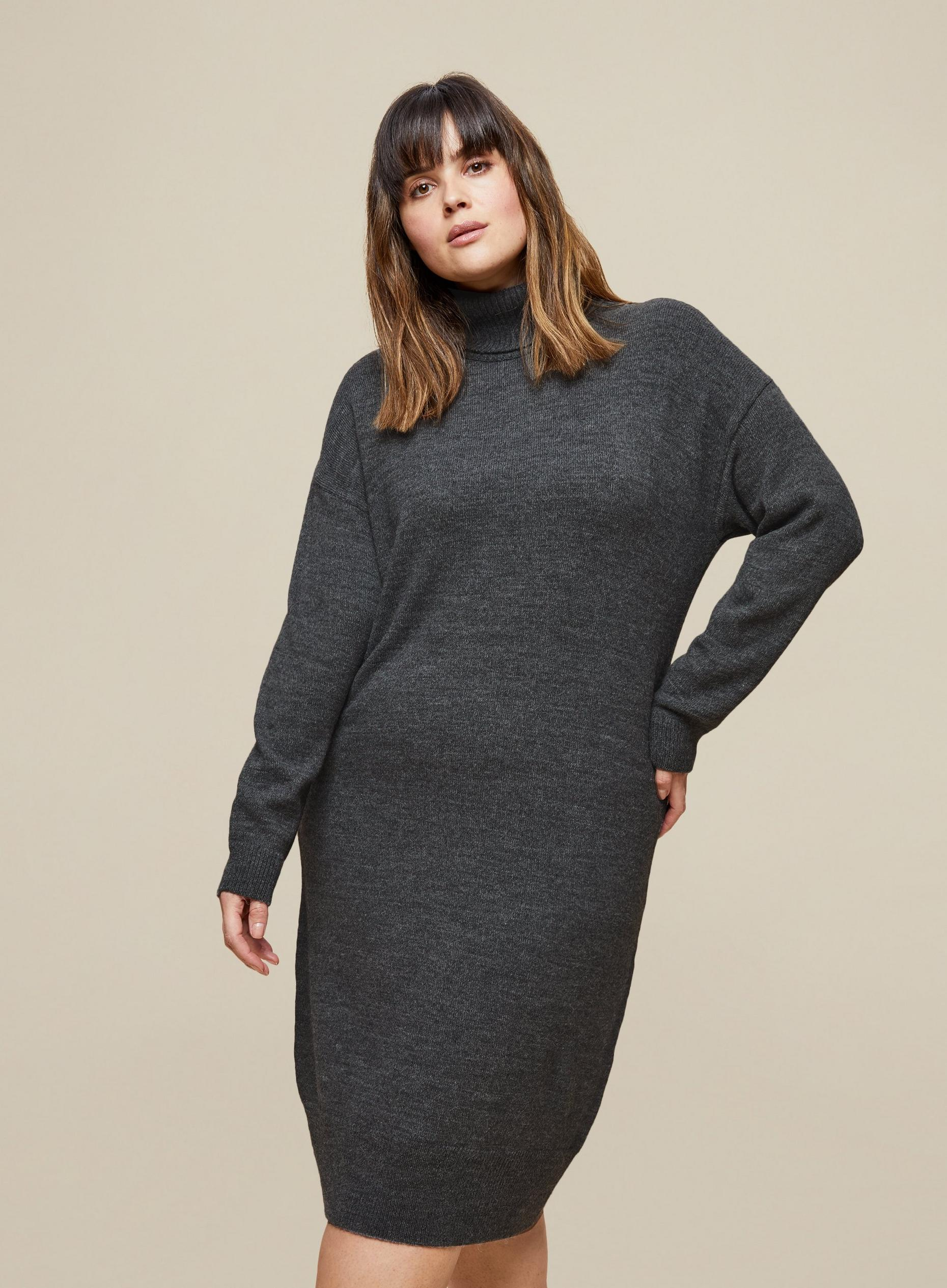 Curve Grey Knitted Dress
