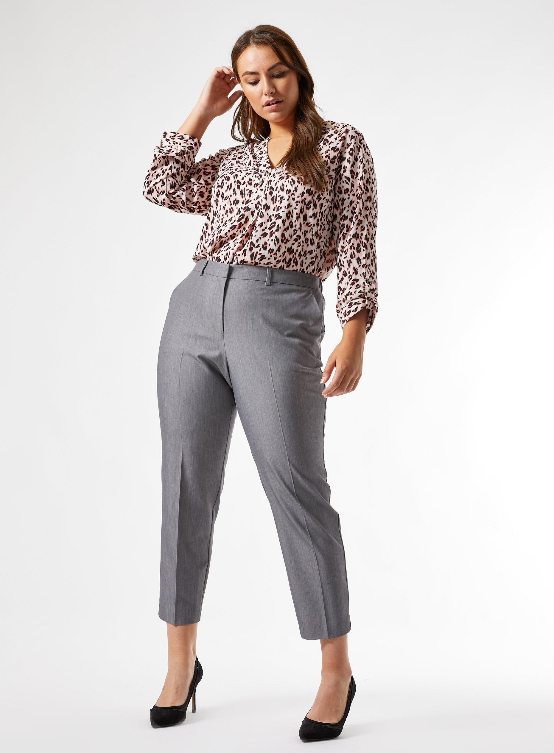Curve Grey Ankle Grazer Trousers