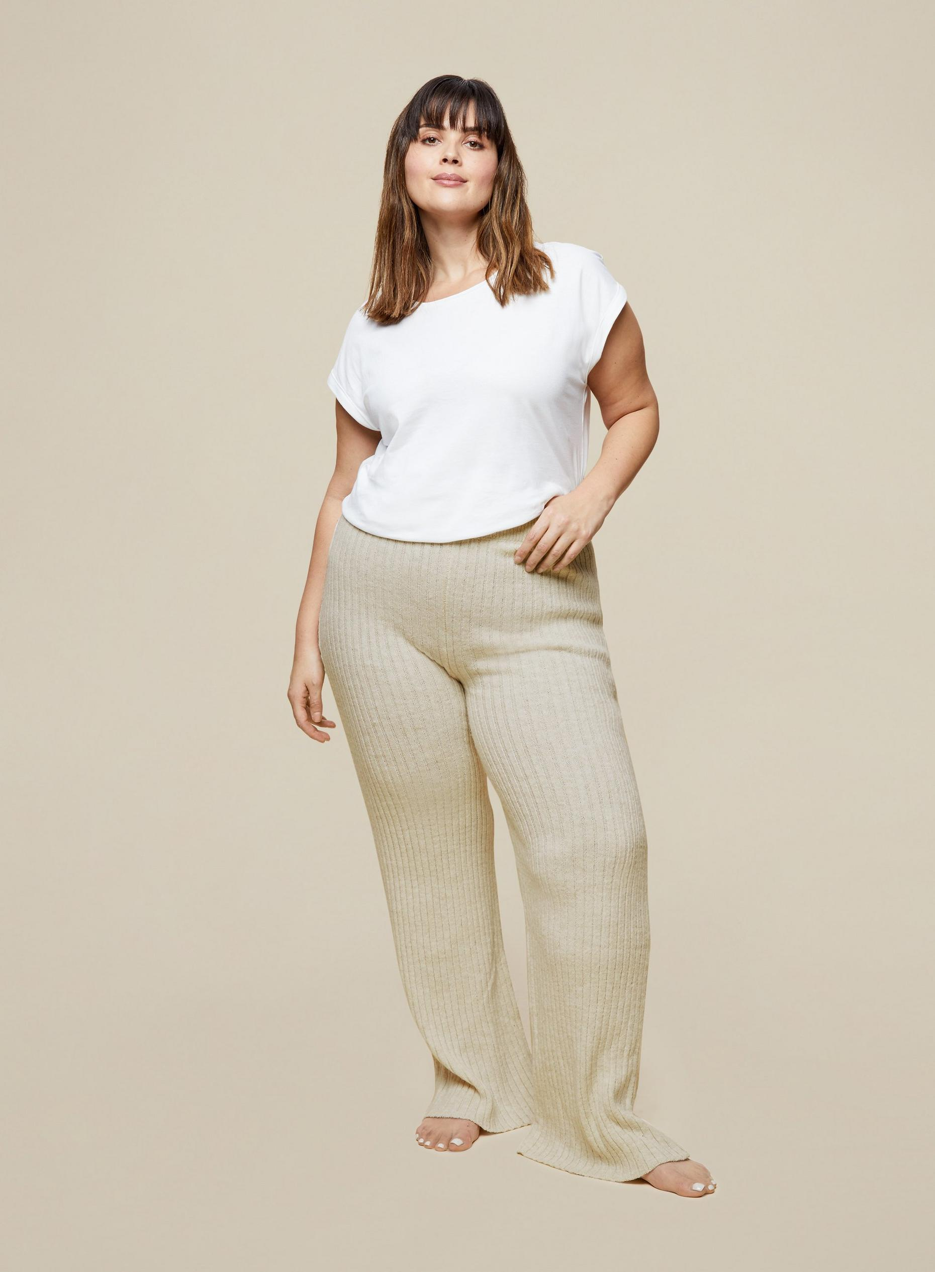 Curve Oat Wide Leg Lounge Trouser