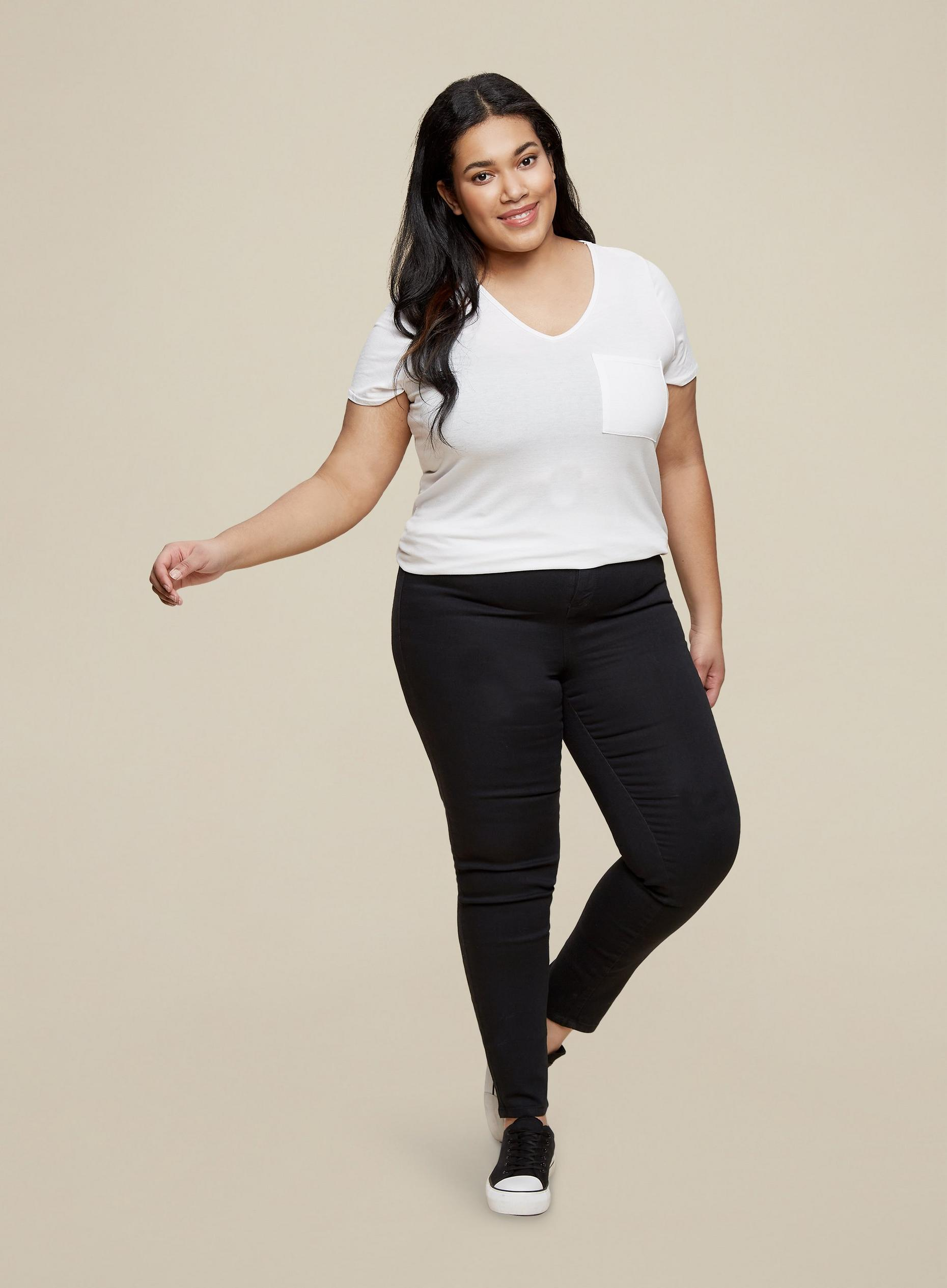 Curve Black and Indigo 2 Pack Skinny Jeans