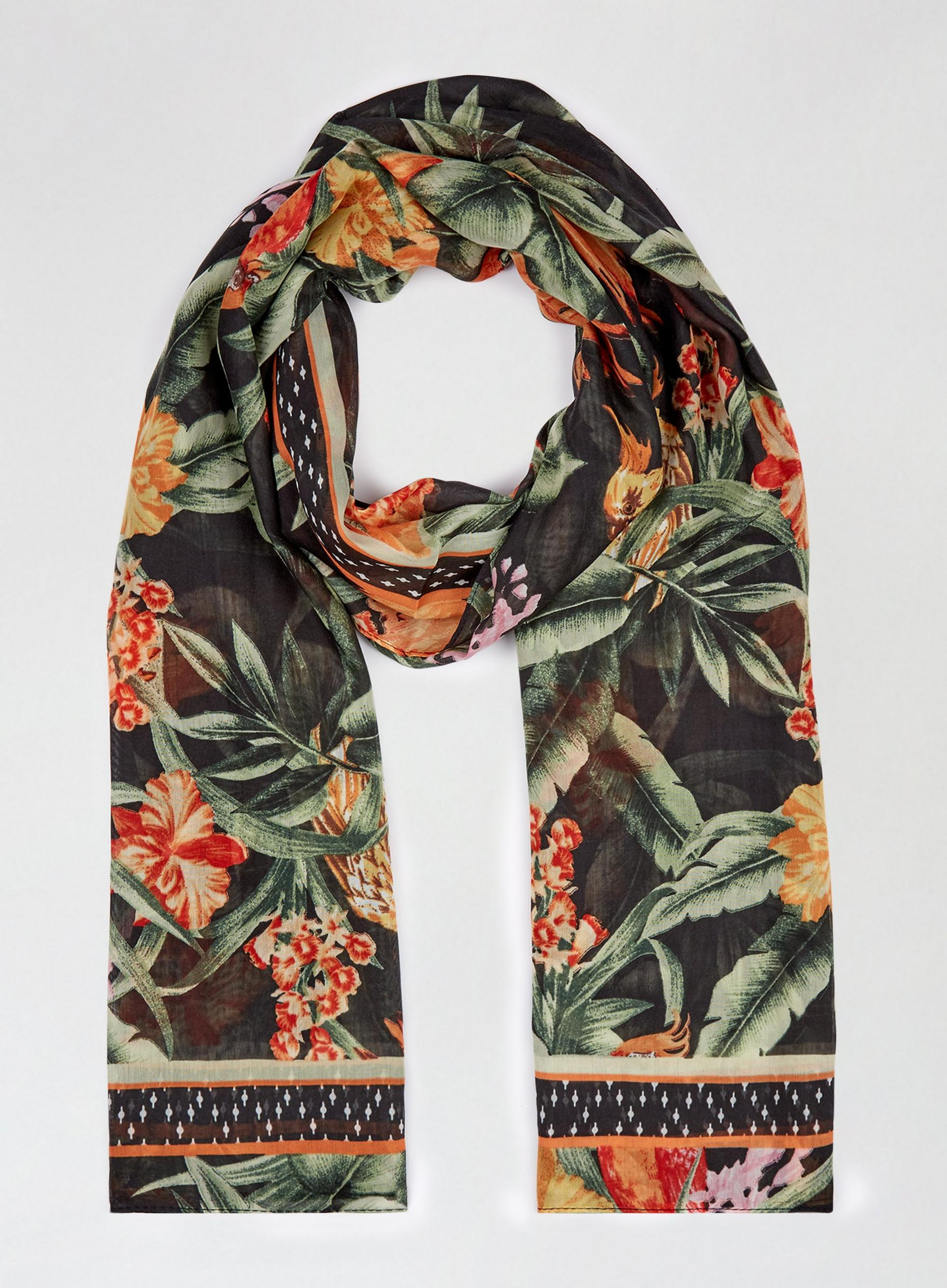 Tropical  Print Lightweight Scarf