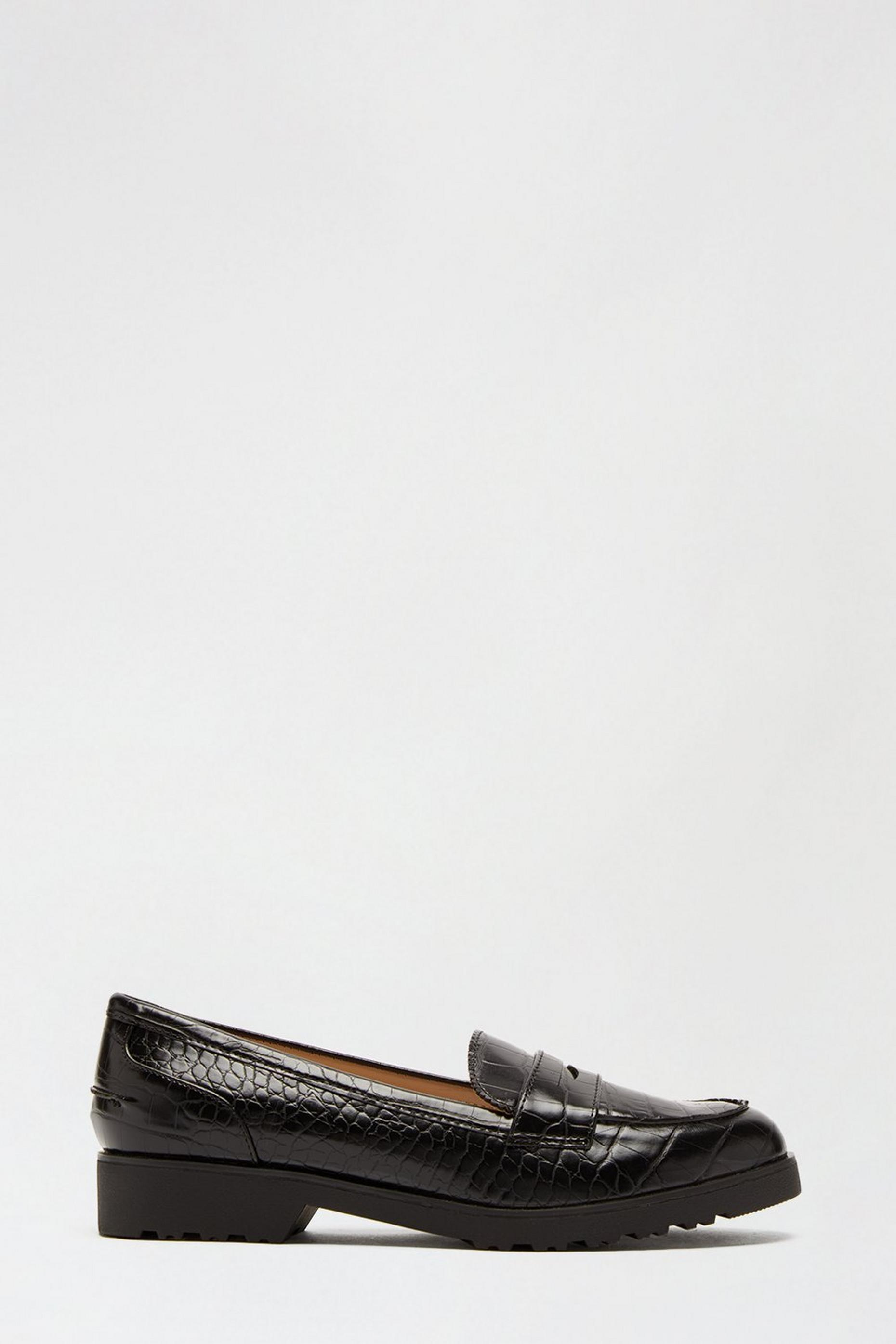 Wide Fit Black Lincoln Loafer