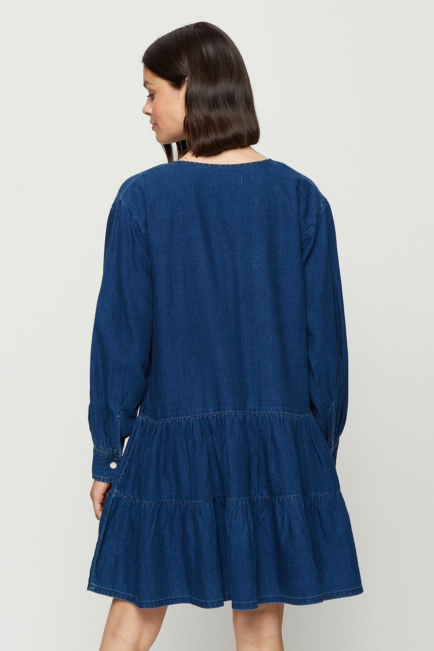 132 Indigo Smock Dress image number 3