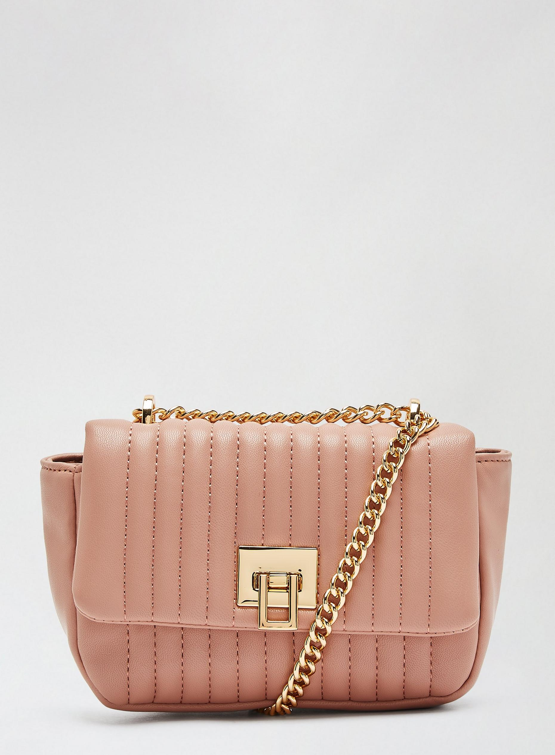 Blush Mini Quilt Crossbody Bag