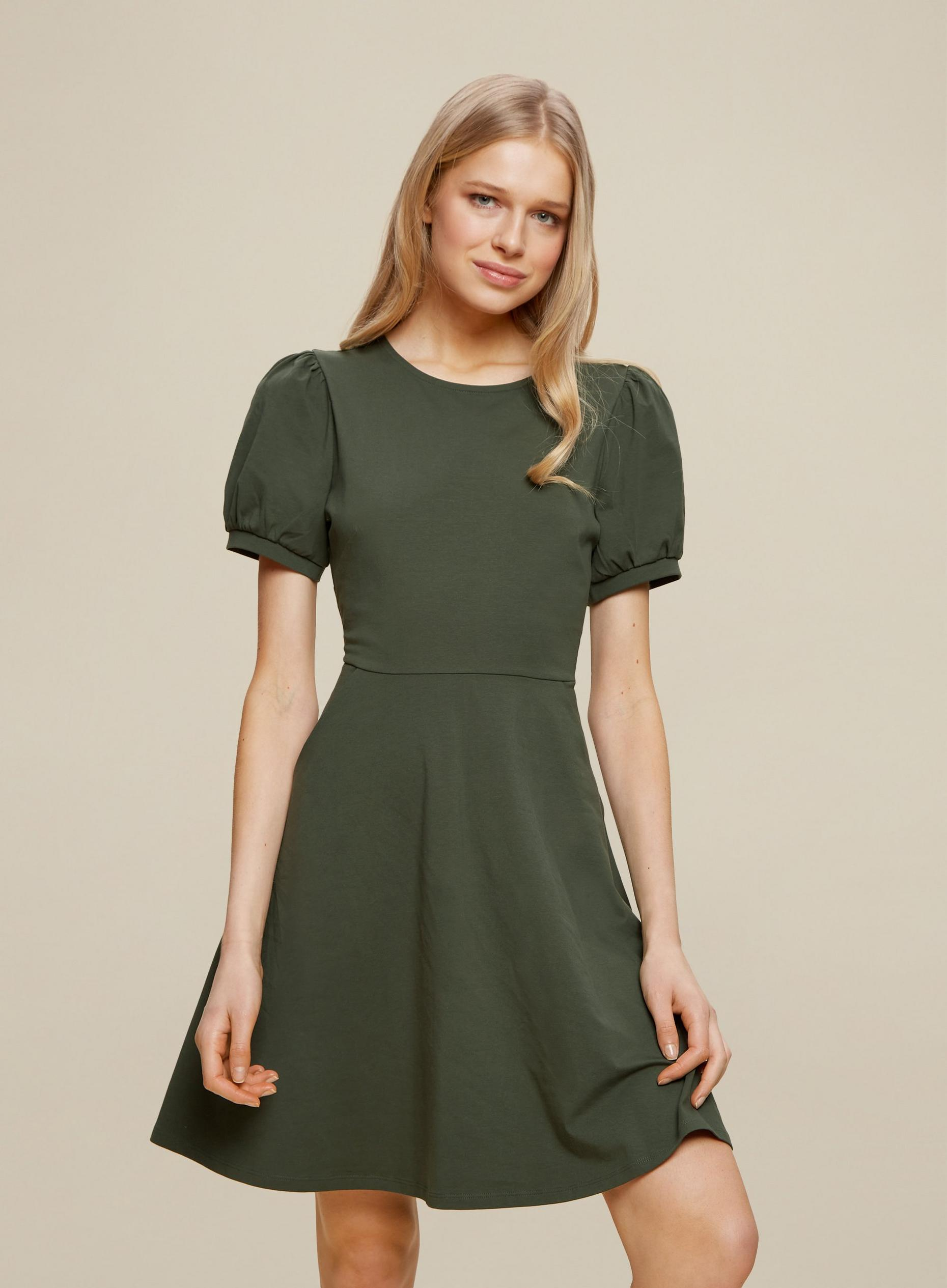 Khaki Organic Cotton T Shirt Dress