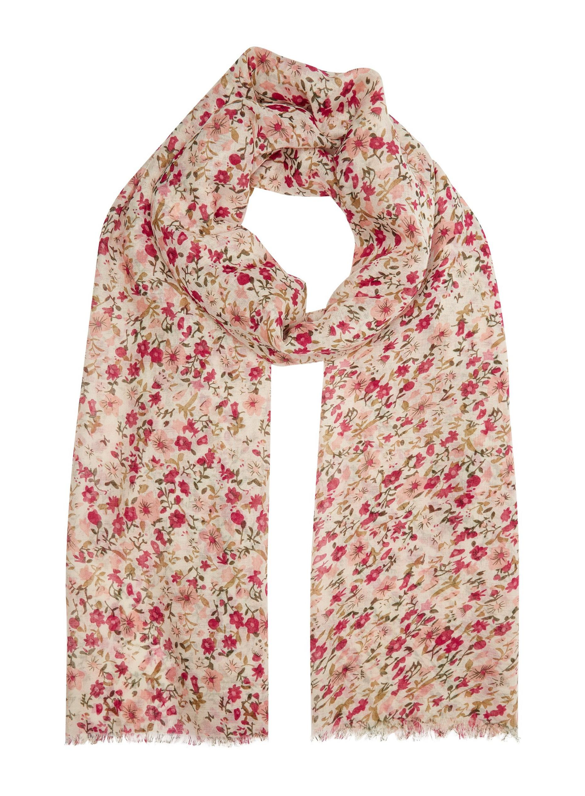Pink Ditsy Floral Lightweight Scarf