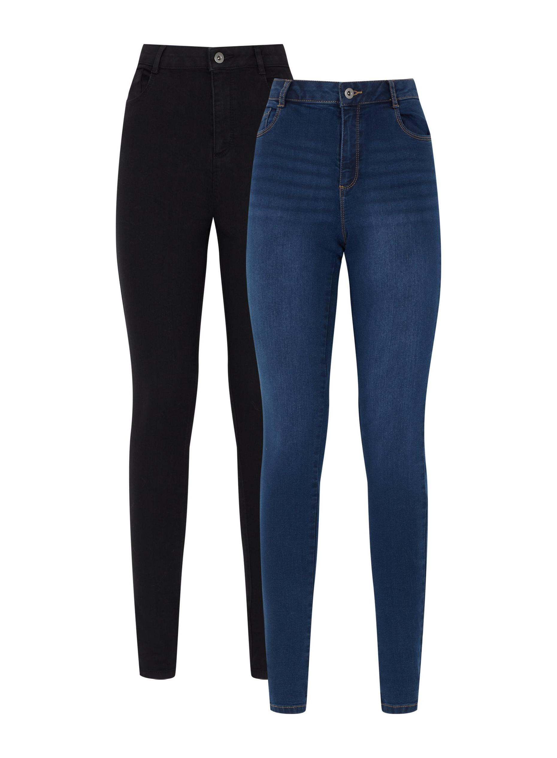 Tall 2 Pack Black and Mid Wash Jean